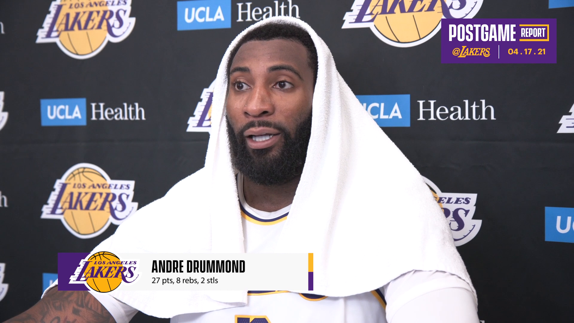 Lakers Postgame: Andre Drummond (4/17/21)
