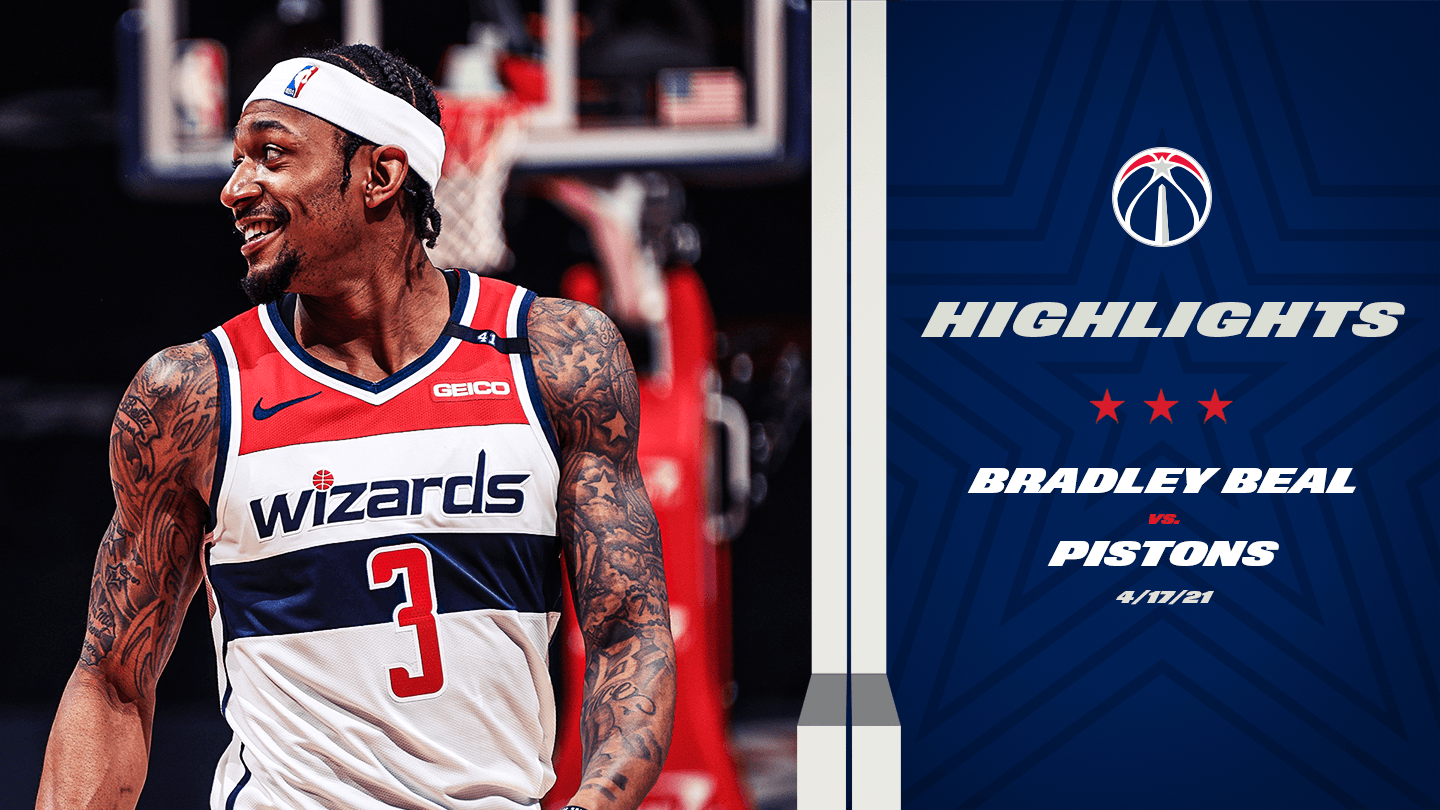 Highlights: Bradley Beal drops 37 vs. Pistons - 4/17/21