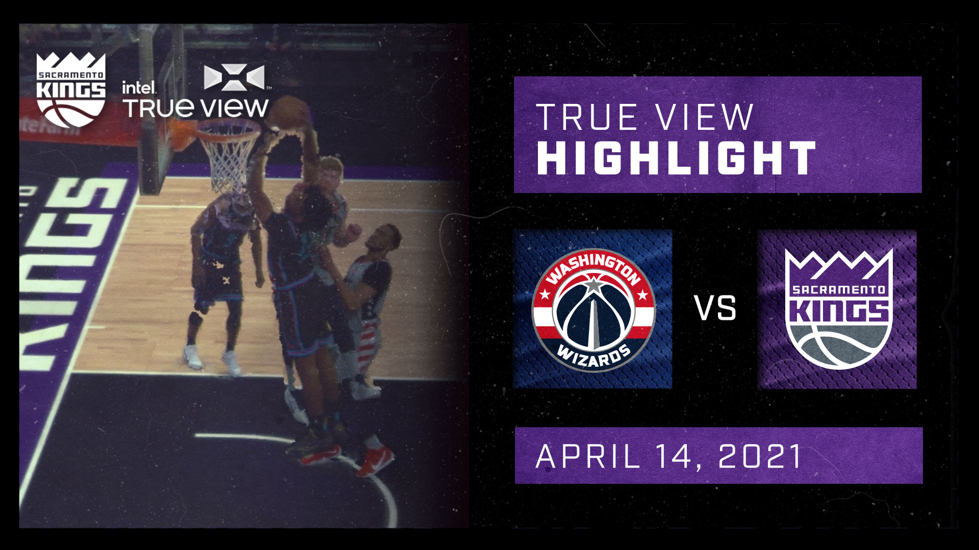 Intel True View Highlight - Jones Dunk vs Wizards 4.14.21