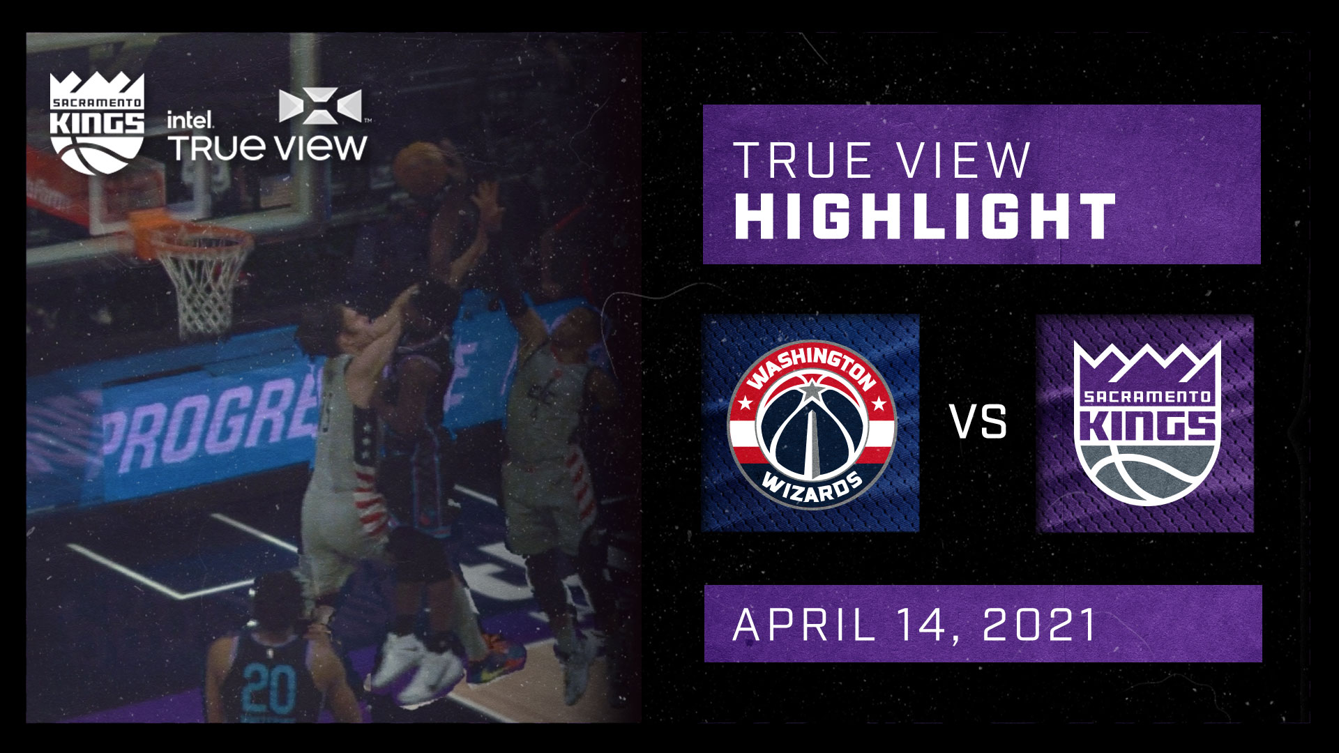 Intel True View Highlight - Davis Dunk vs Wizards 4.14.21