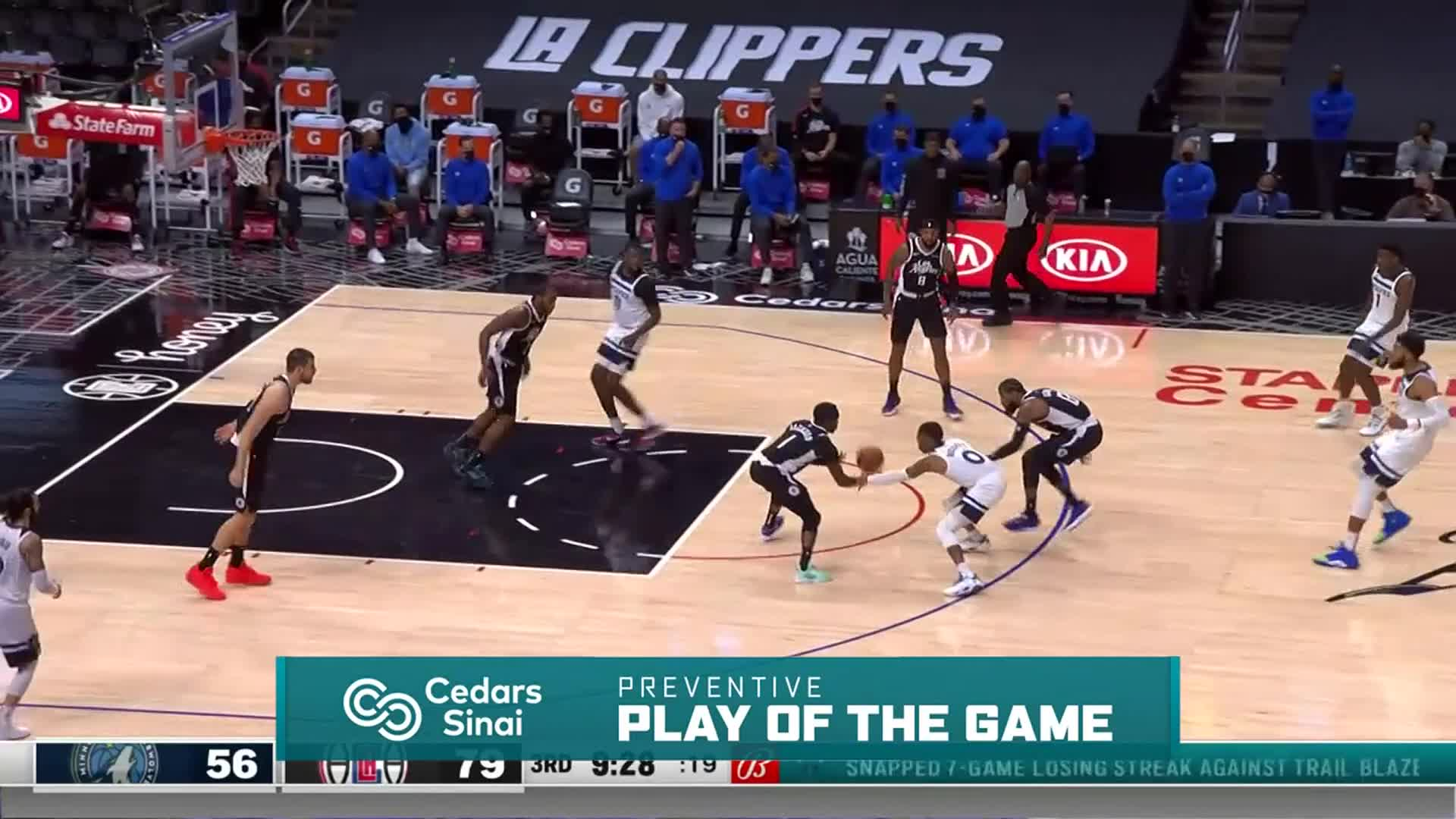 Cedars-Sinai Preventive Play of the Game | Clippers vs Timberwolves (4.18.21)