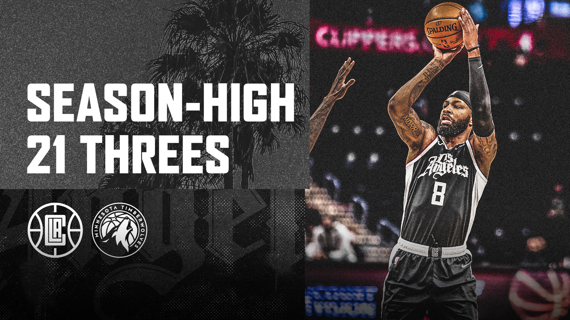 Clippers Hit Season-High 21 Threes vs Timberwolves | (4.18.21)