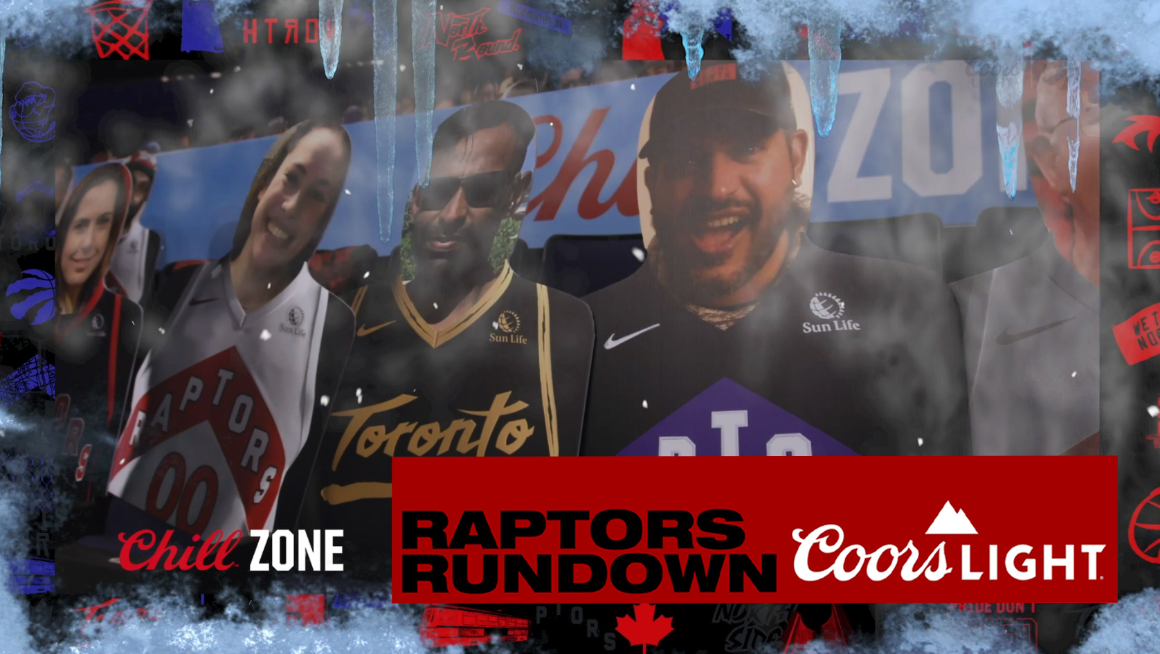 Chllin in the ChillZone - find your face | Raptors Rundown pres. by Coors Light