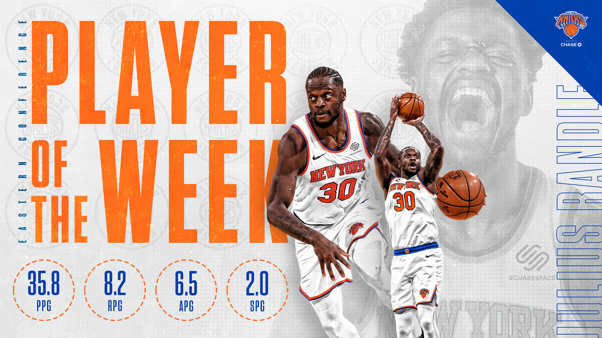Julius Randle Named Eastern Conference Player of the Week | April 12-18