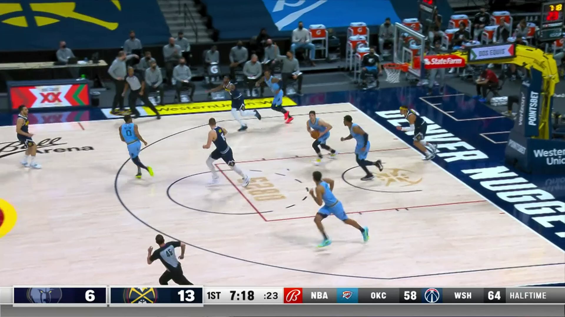 Kyle Anderson with the fast break finish