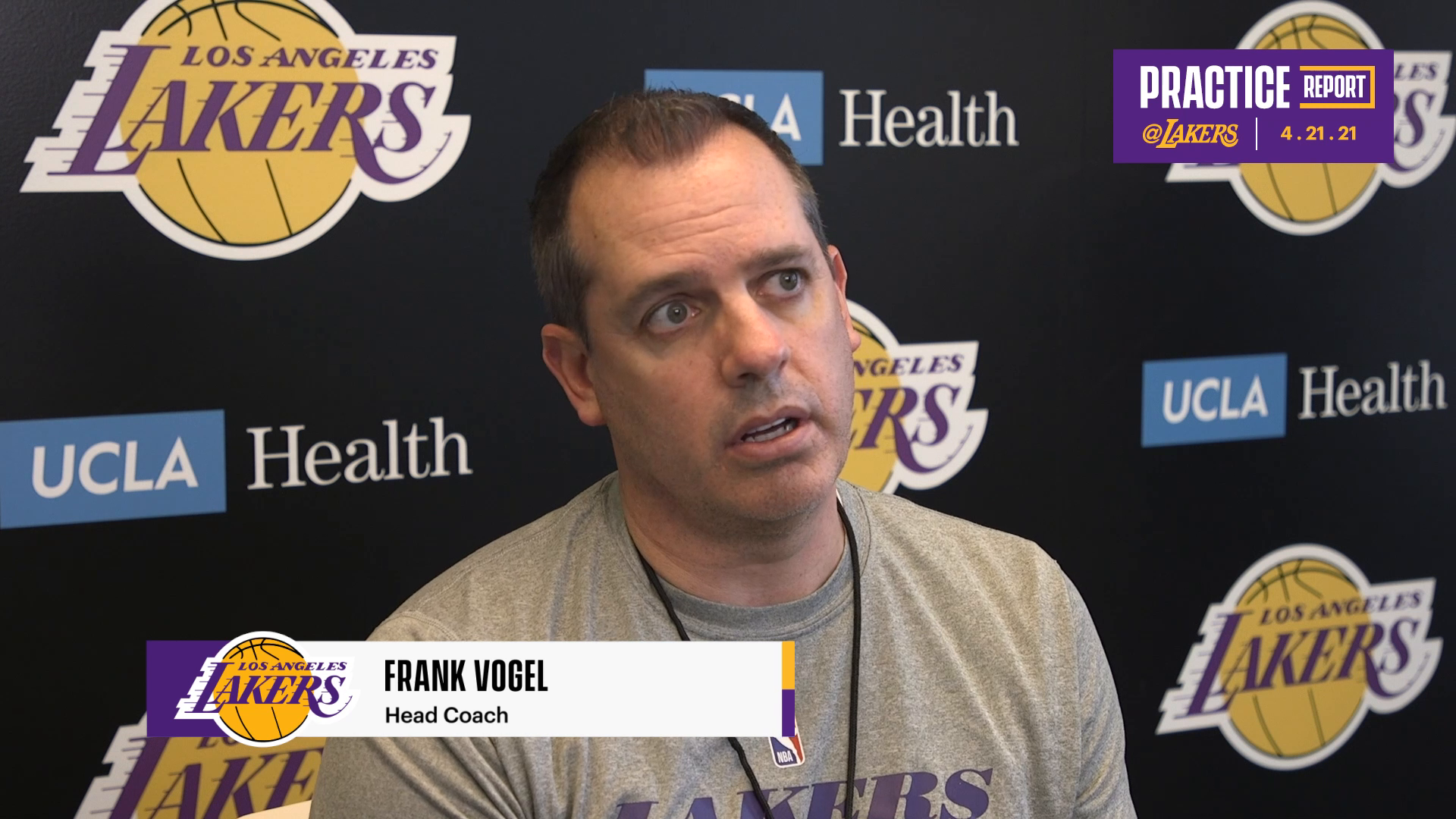 Lakers Practice Report: Frank Vogel (4/21/21)
