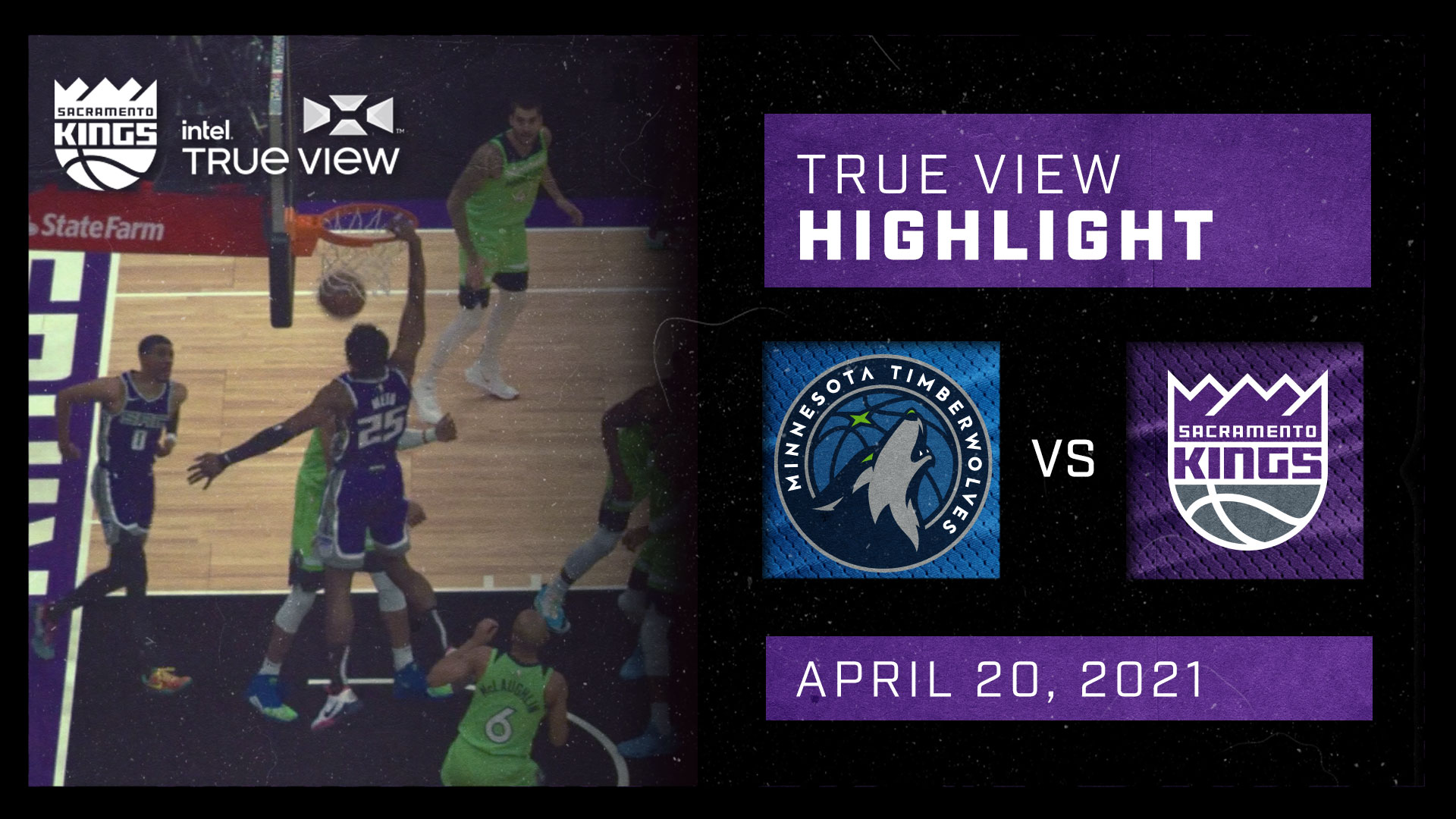 Intel True View Highlight - Haliburton Lob to Metu vs Timberwolves 4.20.21
