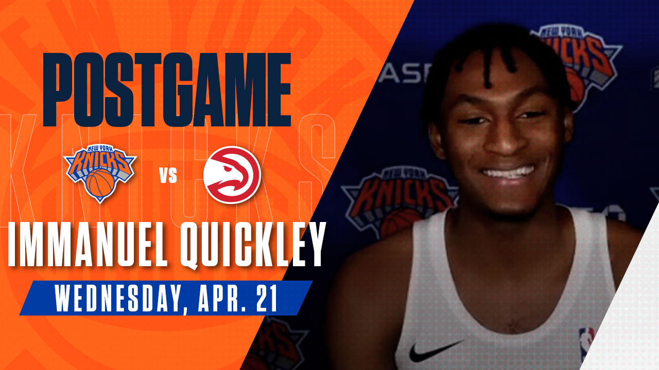 Postgame: Immanuel Quickley | Knicks vs. Hawks