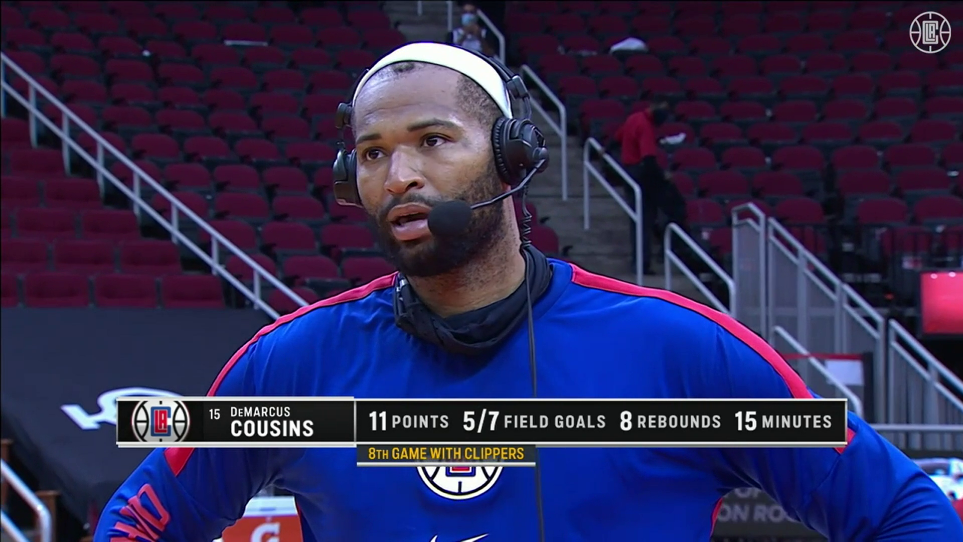 Cousins on Getting More Comfortable | Clippers vs Rockets (4.23.21)