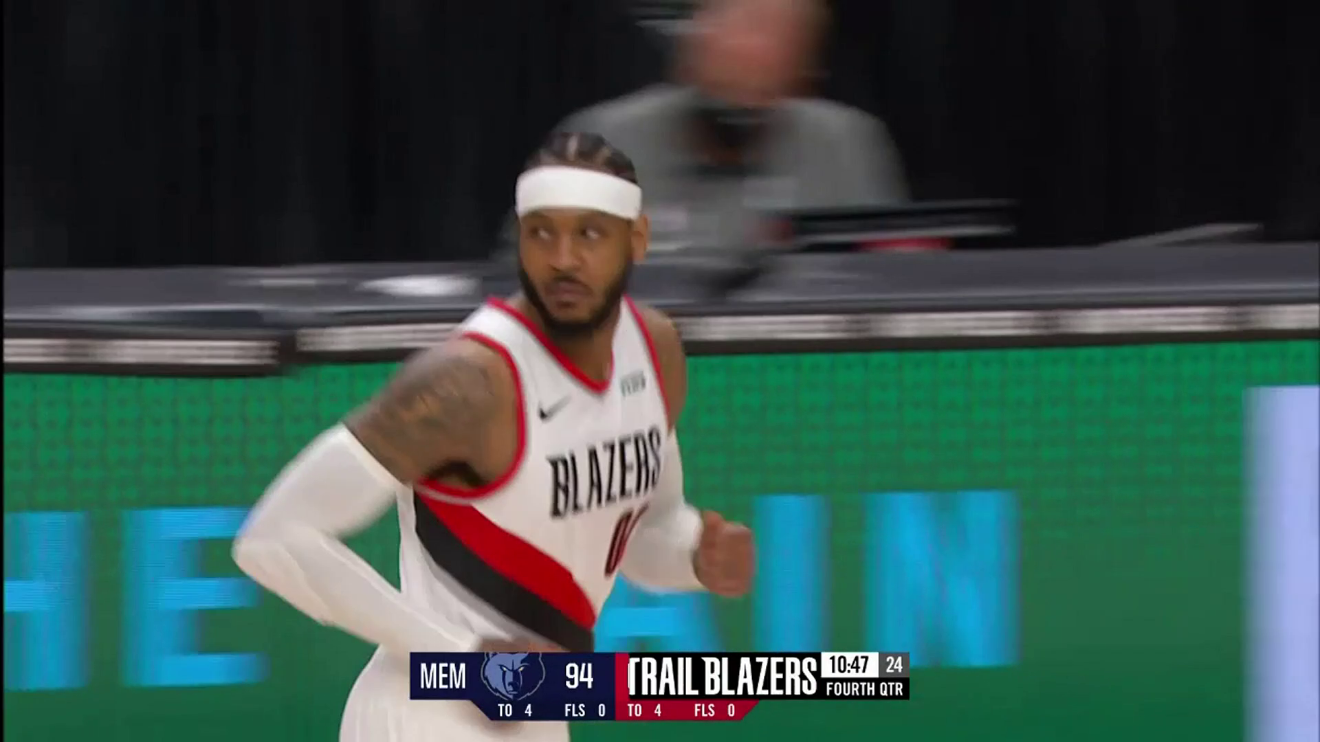 Carmelo Anthony catching fire in the fourth quarter