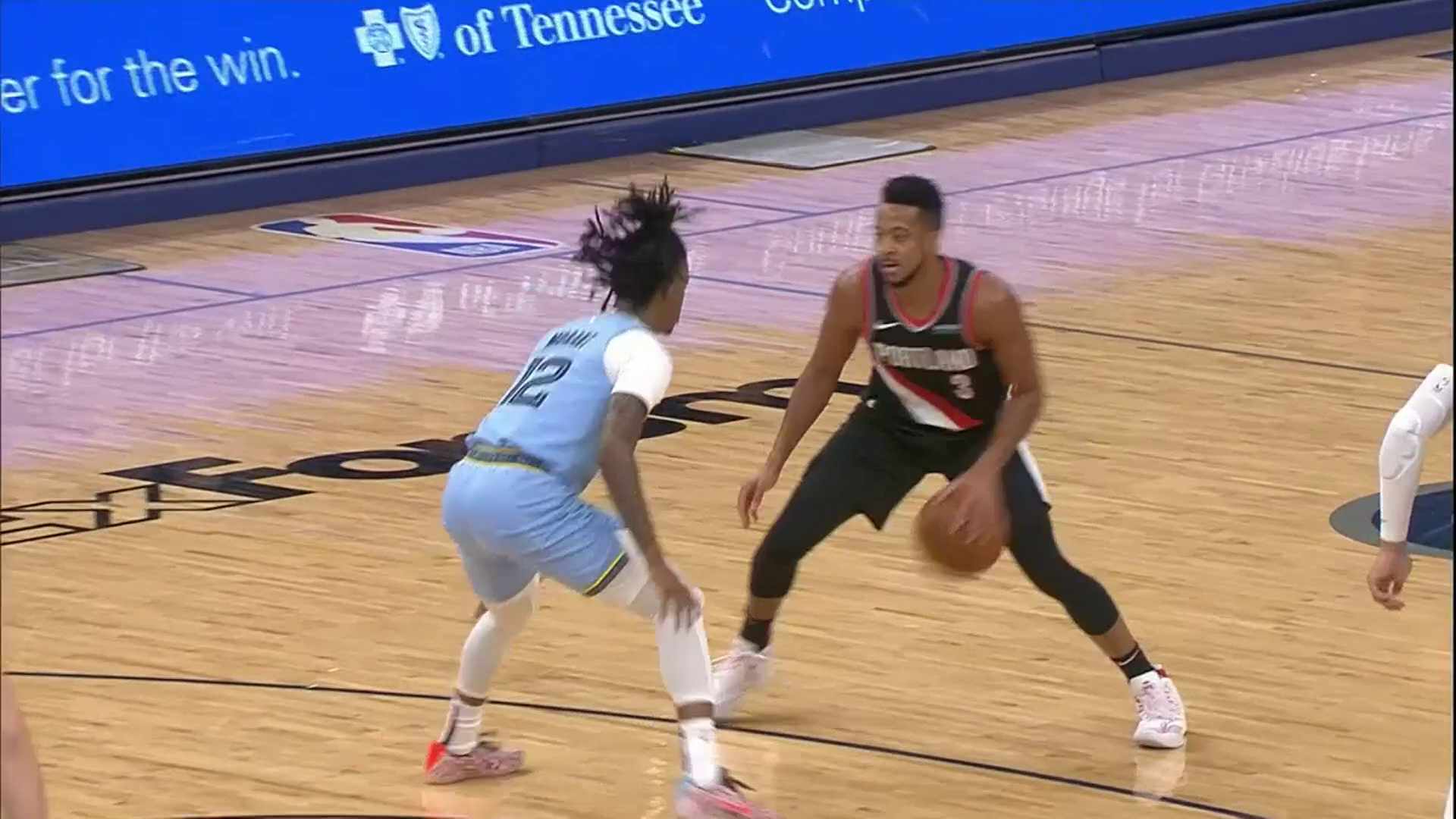 McCollum's unleashes a flurry of moves and hits the shot