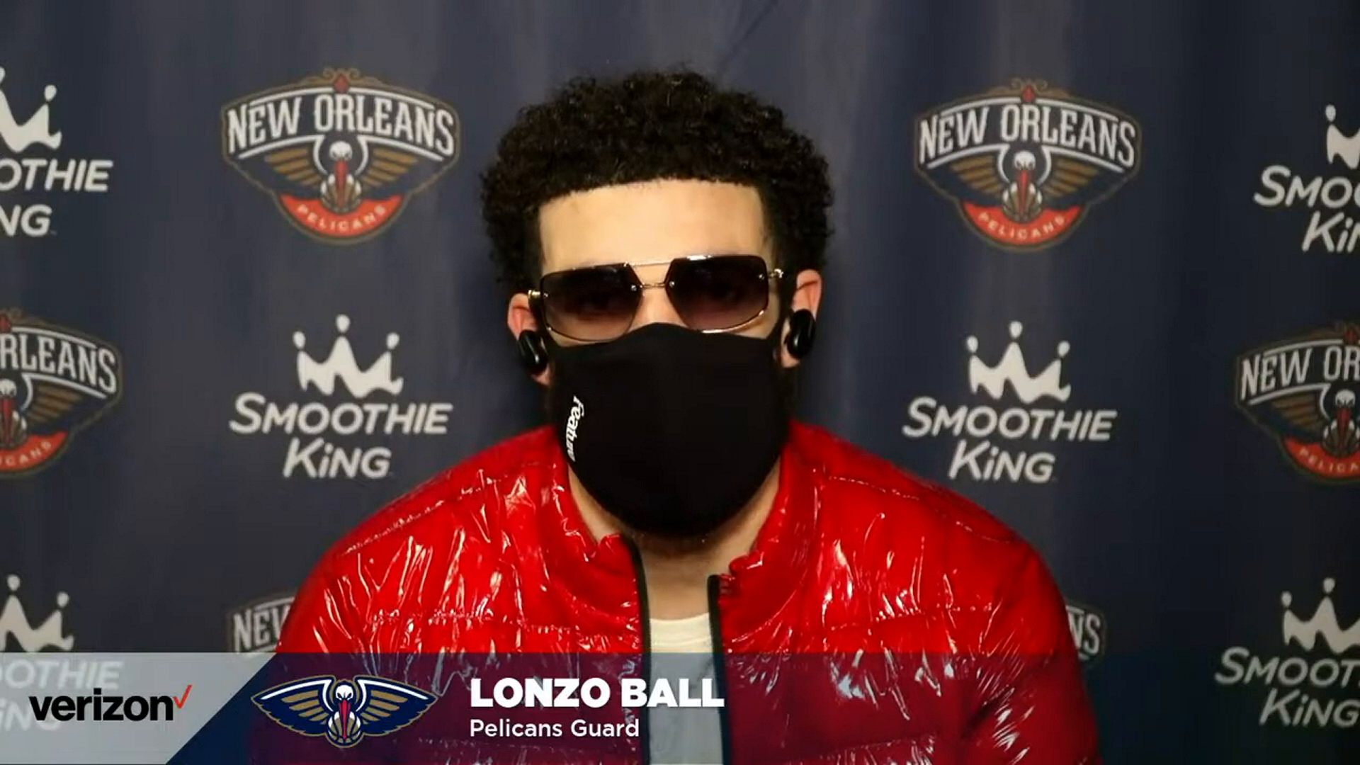 Pelicans-Nuggets Postgame Interview: Lonzo Ball 4-28-21