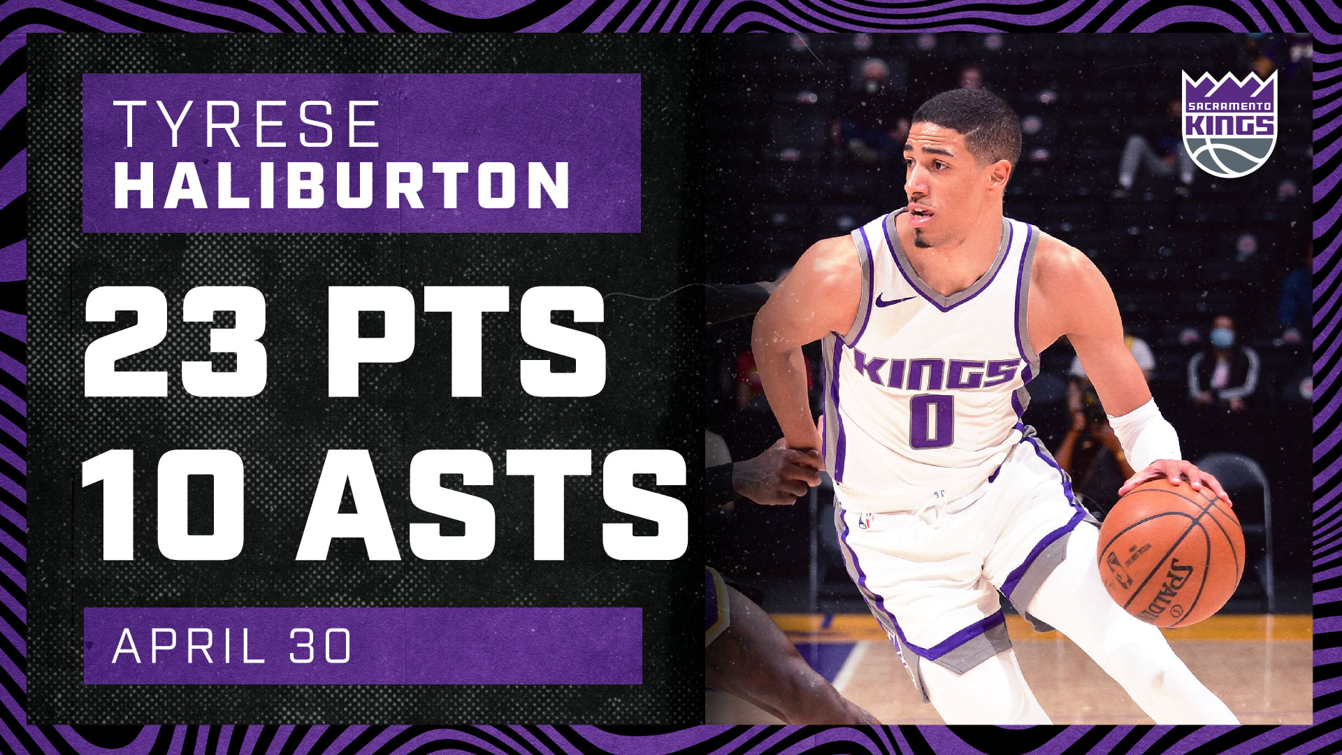 Haliburton Finishes with Double-Double Against Lakers | Kings vs Lakers 4.30.21