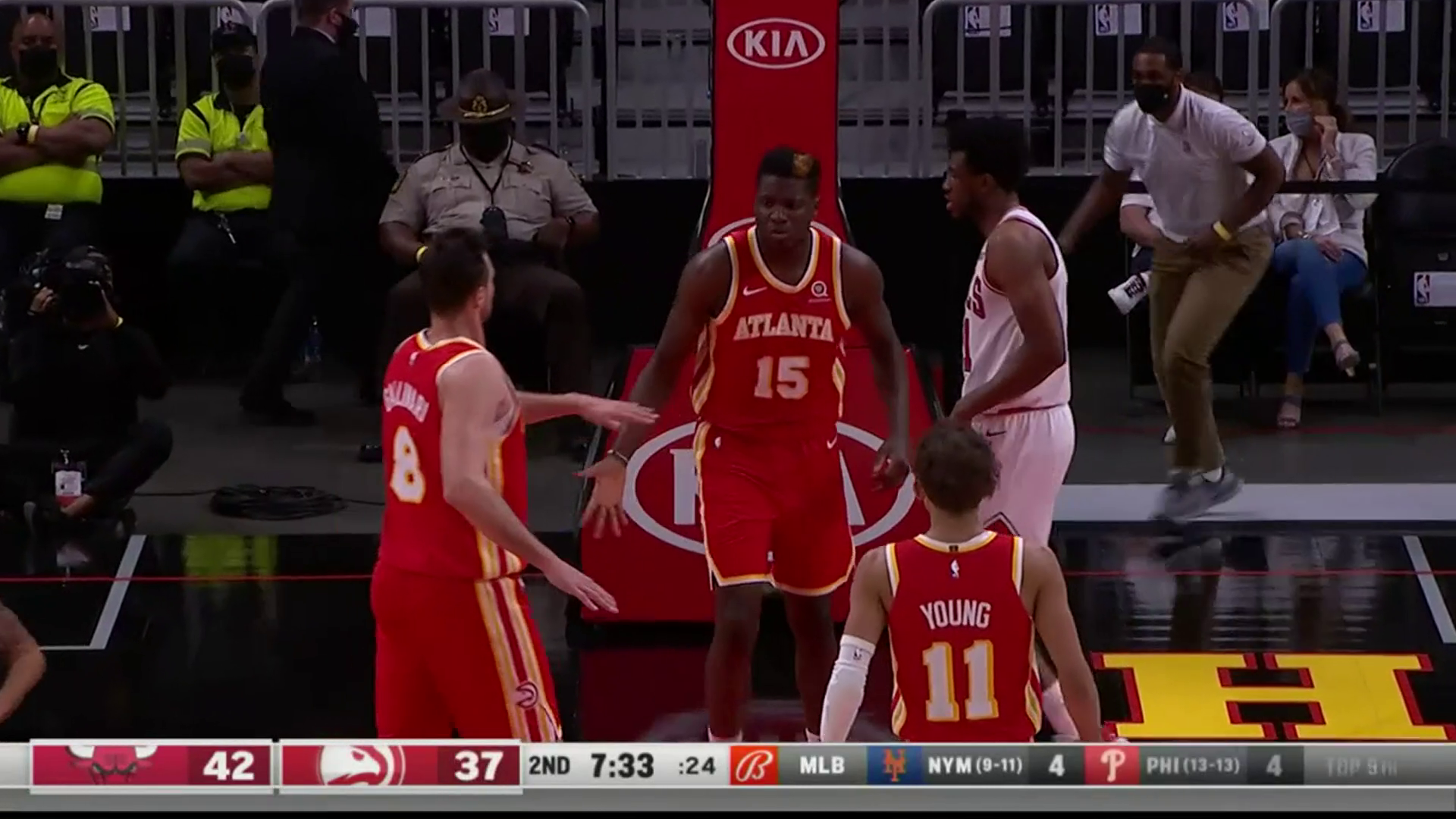Capela Puts Up Double-Double in Win Over Bulls