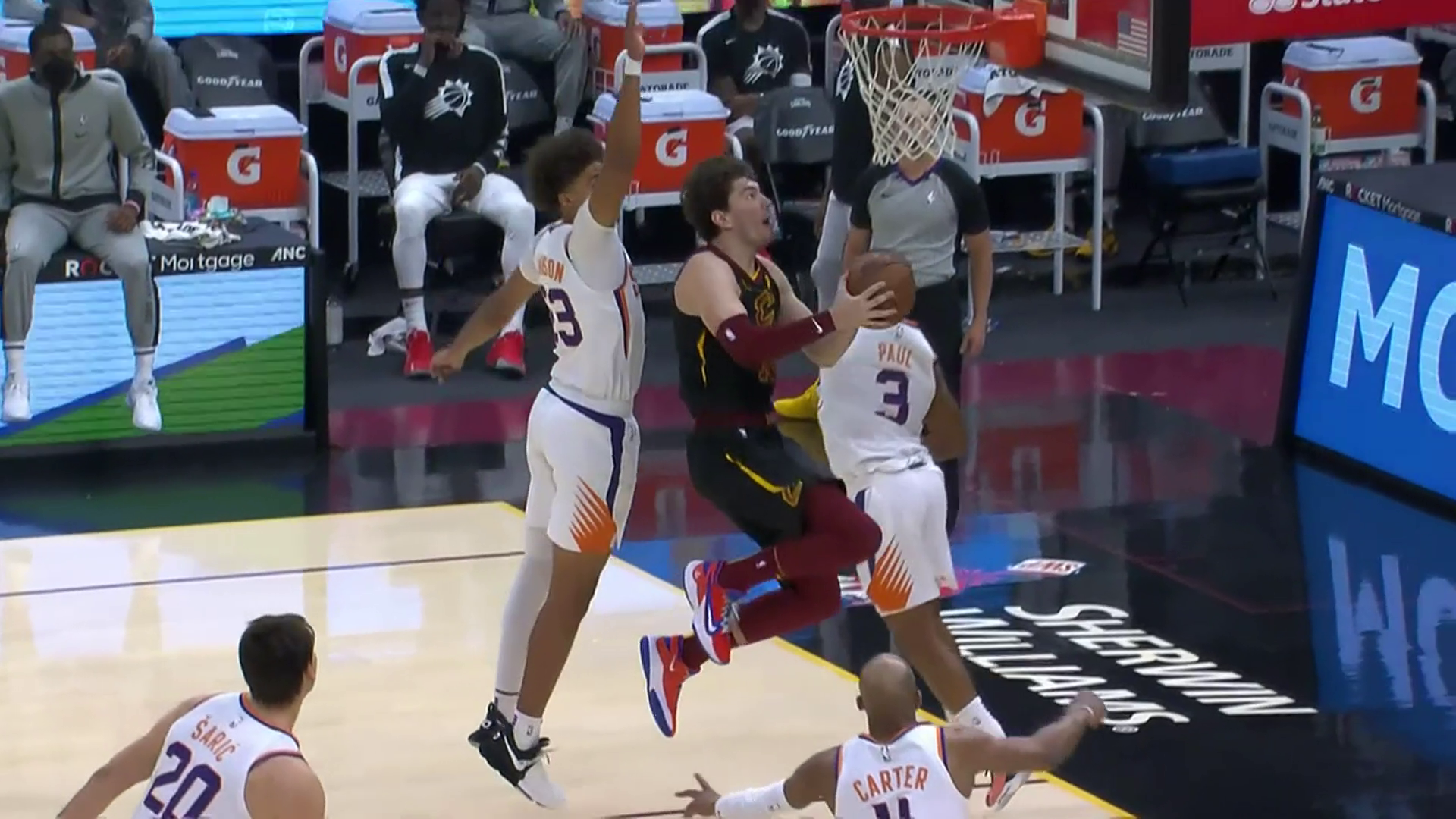 Cedi Hits a Reverse Lay-Up