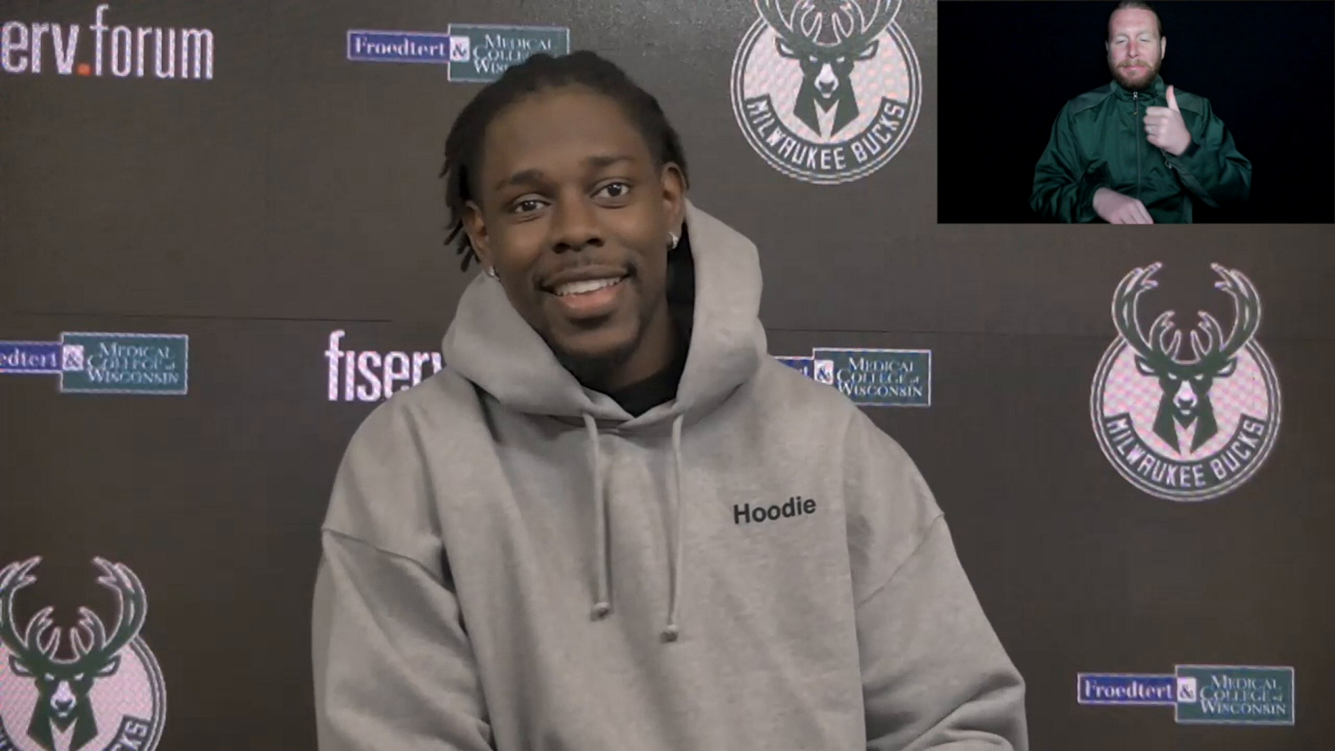 Jrue Holiday ASL Press Conference | 4.4.21