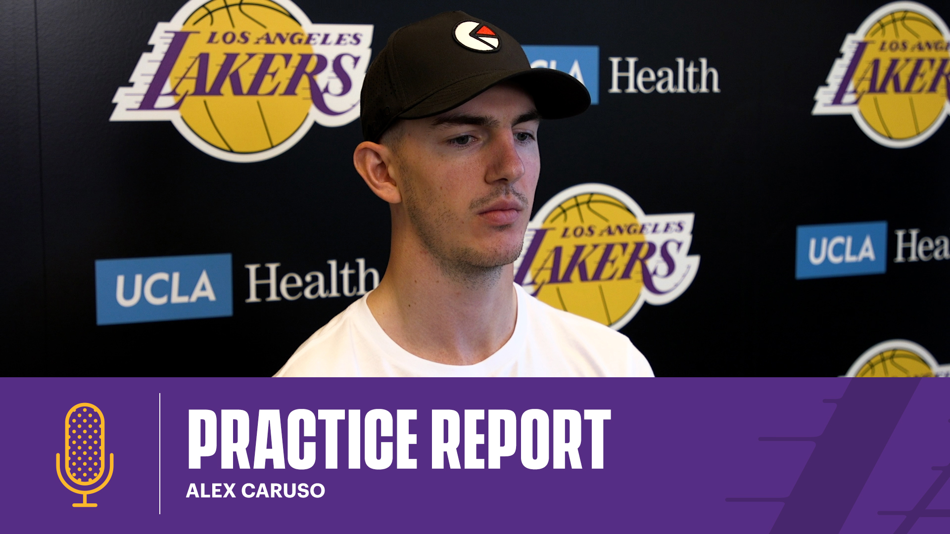 Alex Caruso talks about his role, being vocal, and a positive influence on offense | Lakers Practice