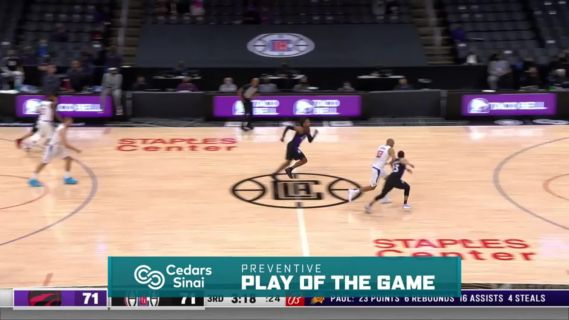 Cedars-Sinai Preventive Play of the Game | Clippers vs Raptors (5.4.21)