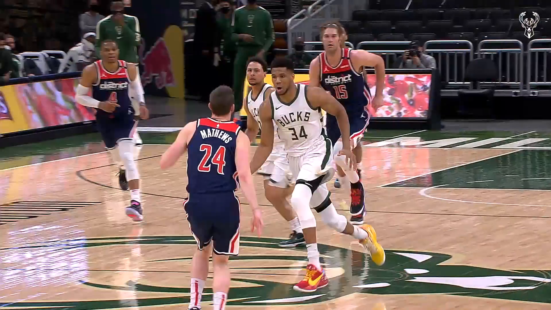 Fiserv Fastbreak: Giannis Slices Through Traffic