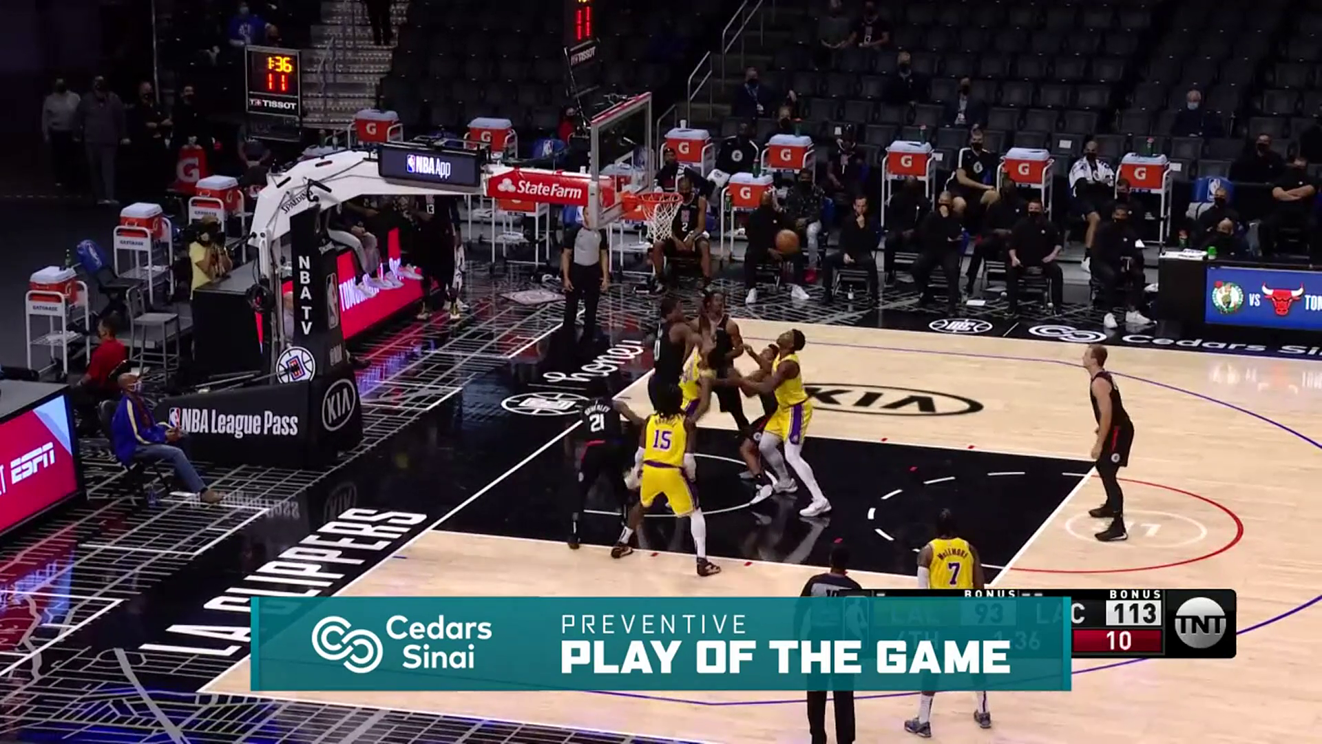 Cedars-Sinai Preventive Play of the Game   Clippers vs Lakers (5.6.21)
