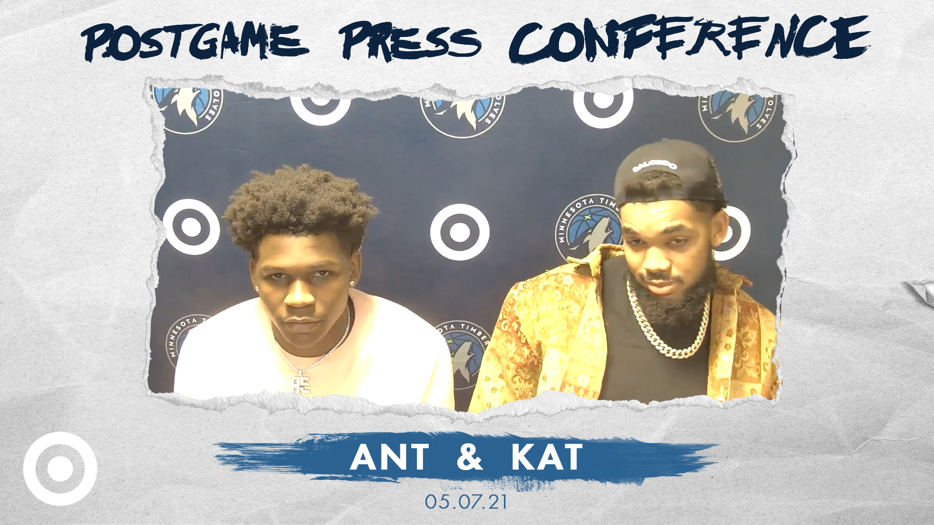 Anthony Edwards, Karl-Anthony Towns Postgame Press Conference - May 7, 2021