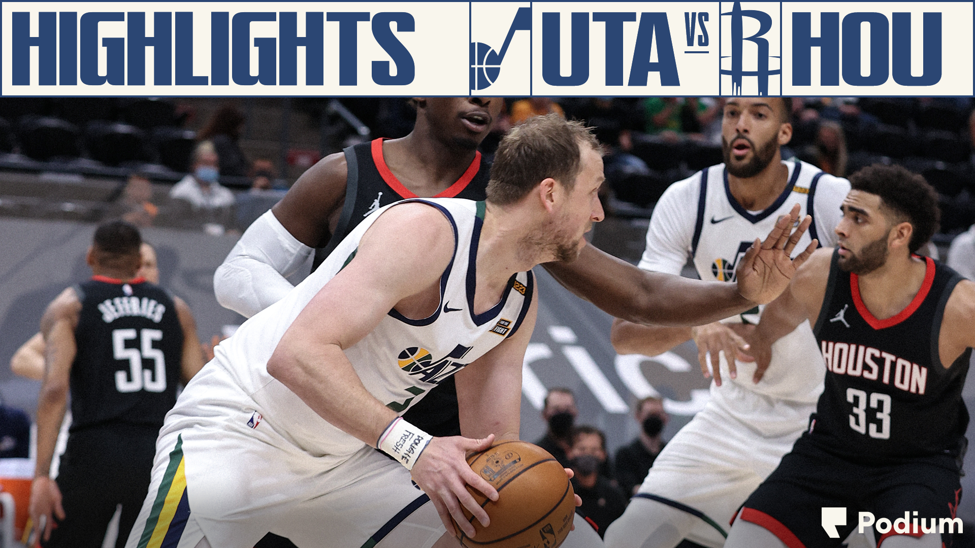 Highlights: Jazz 126 | Rockets 124
