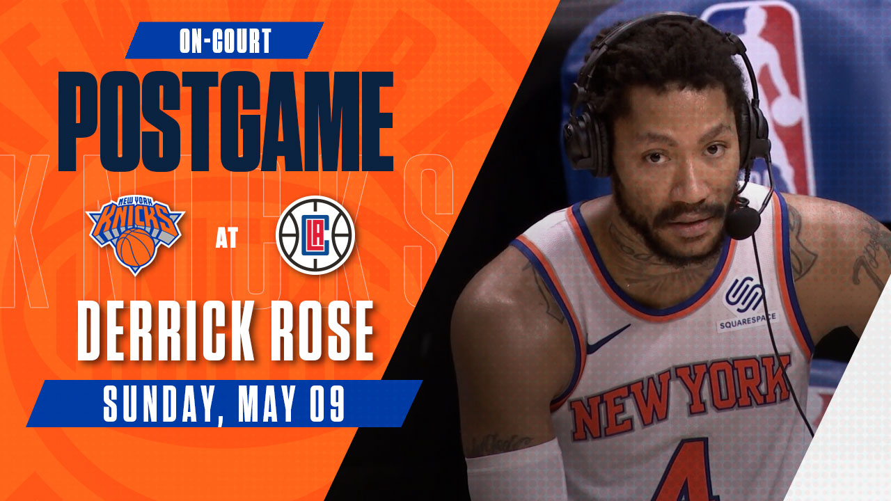 On-Court Postgame: Derrick Rose | Knicks @ Clippers