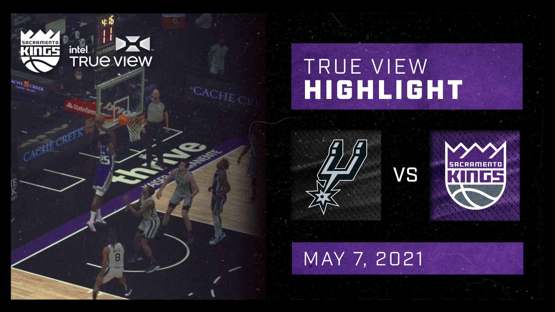 Intel True View Highlight - Hield Alley-oop to Metu vs Spurs 5.7.21