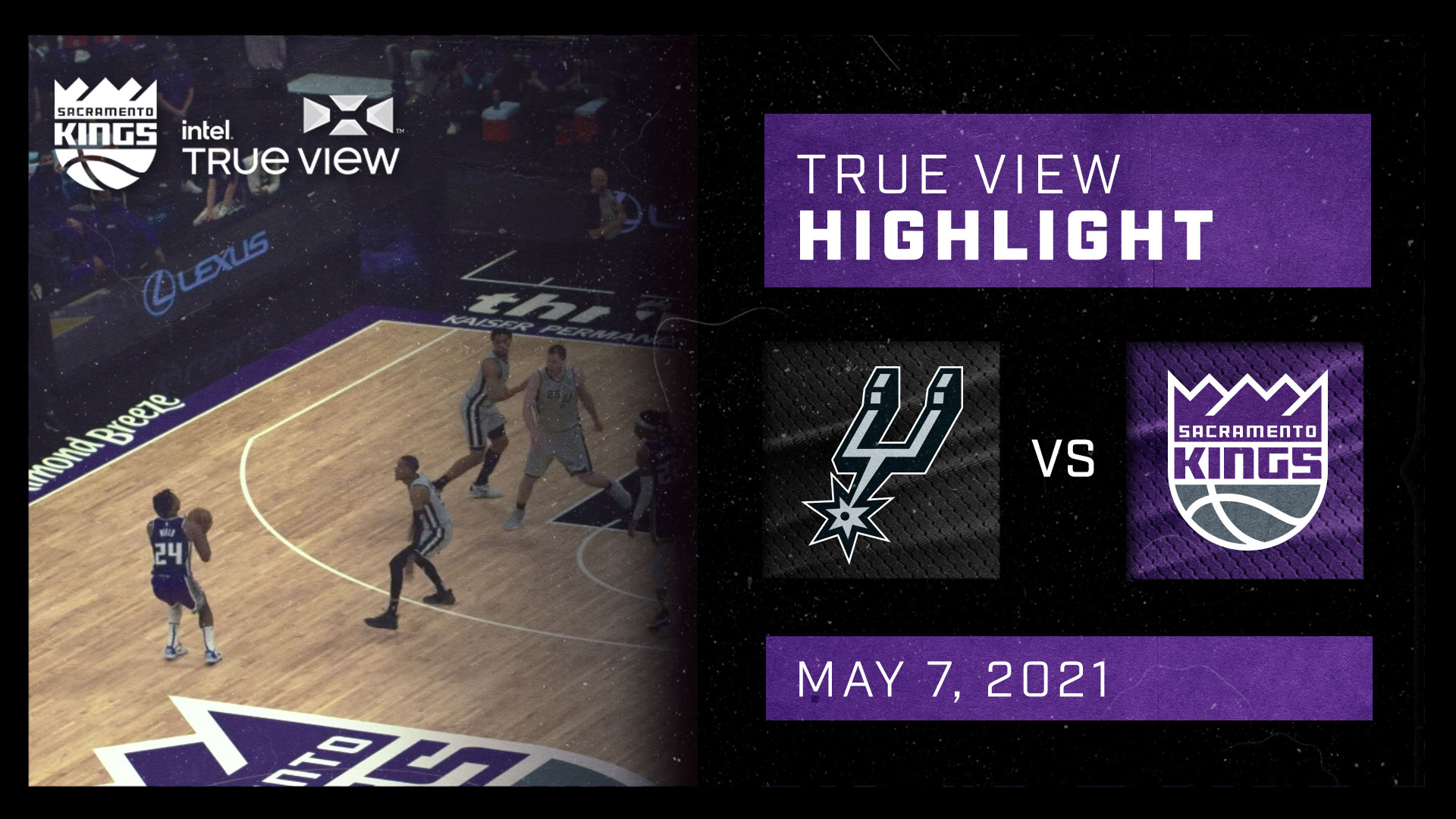 Intel True View Highlight - Hield Deep 3-Pointer vs Spurs 5.7.21
