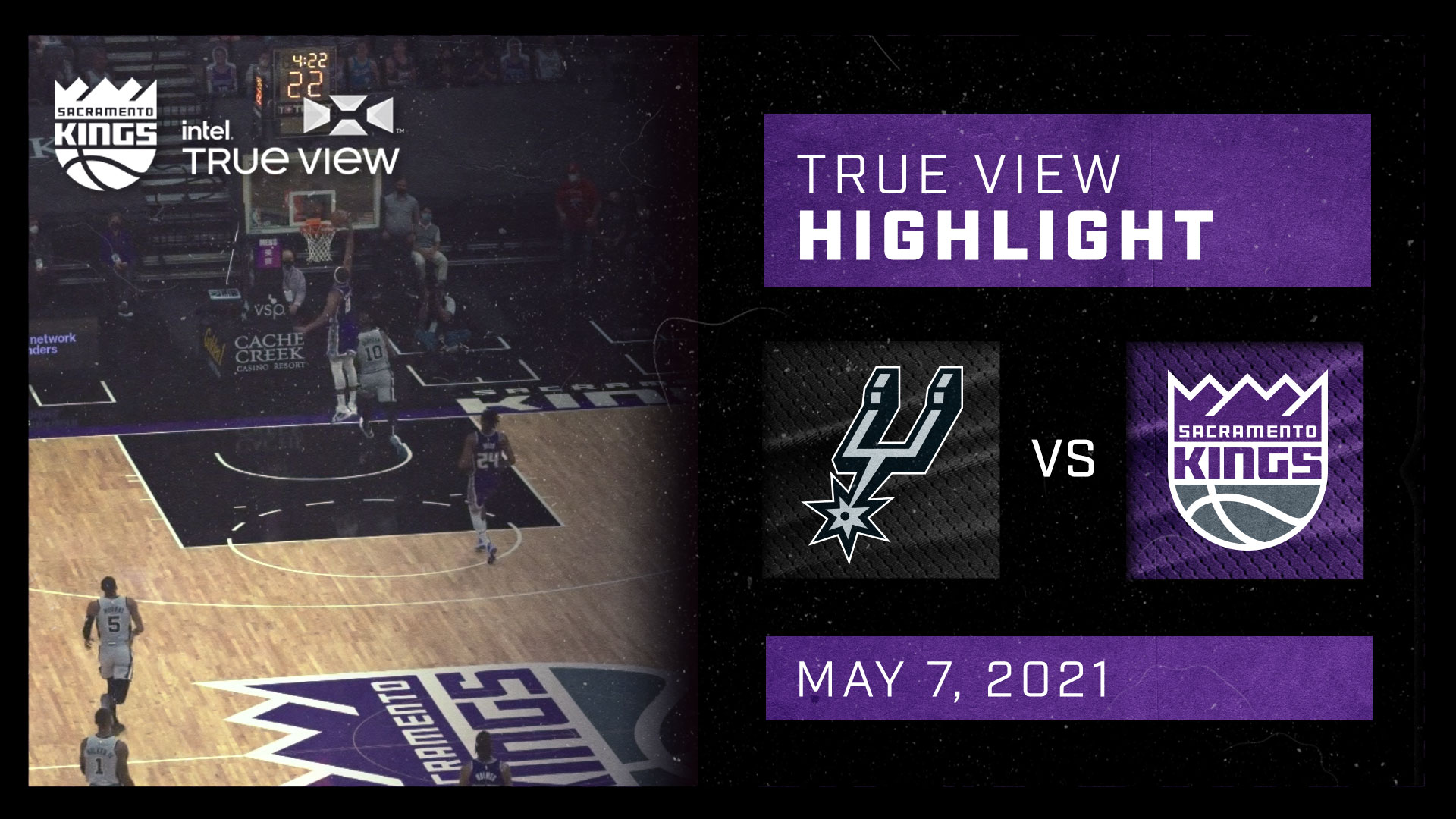 Intel True View Highlight - Harkless Fastbreak Dunk vs Spurs 5.7.21