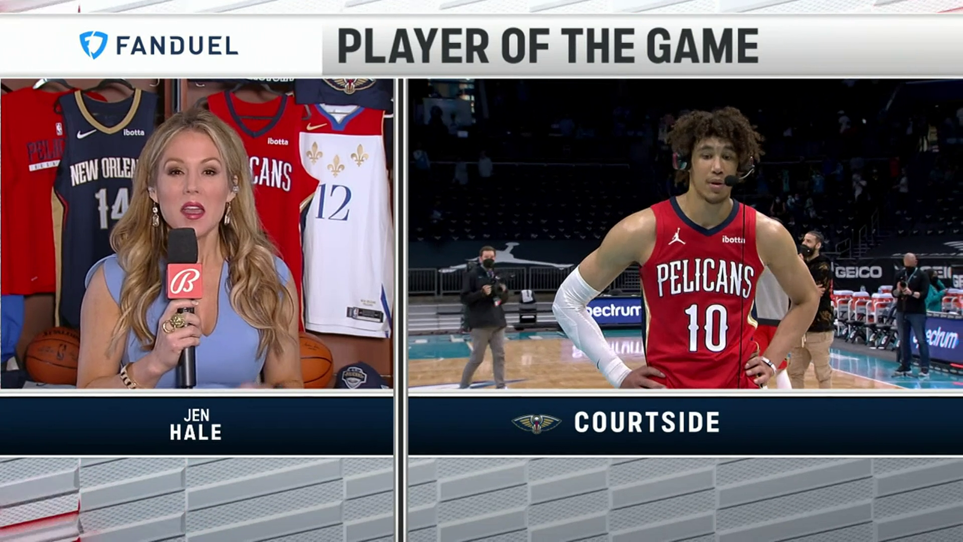 Jaxson Hayes On-Court Postgame Interview | Pelicans at Hornets