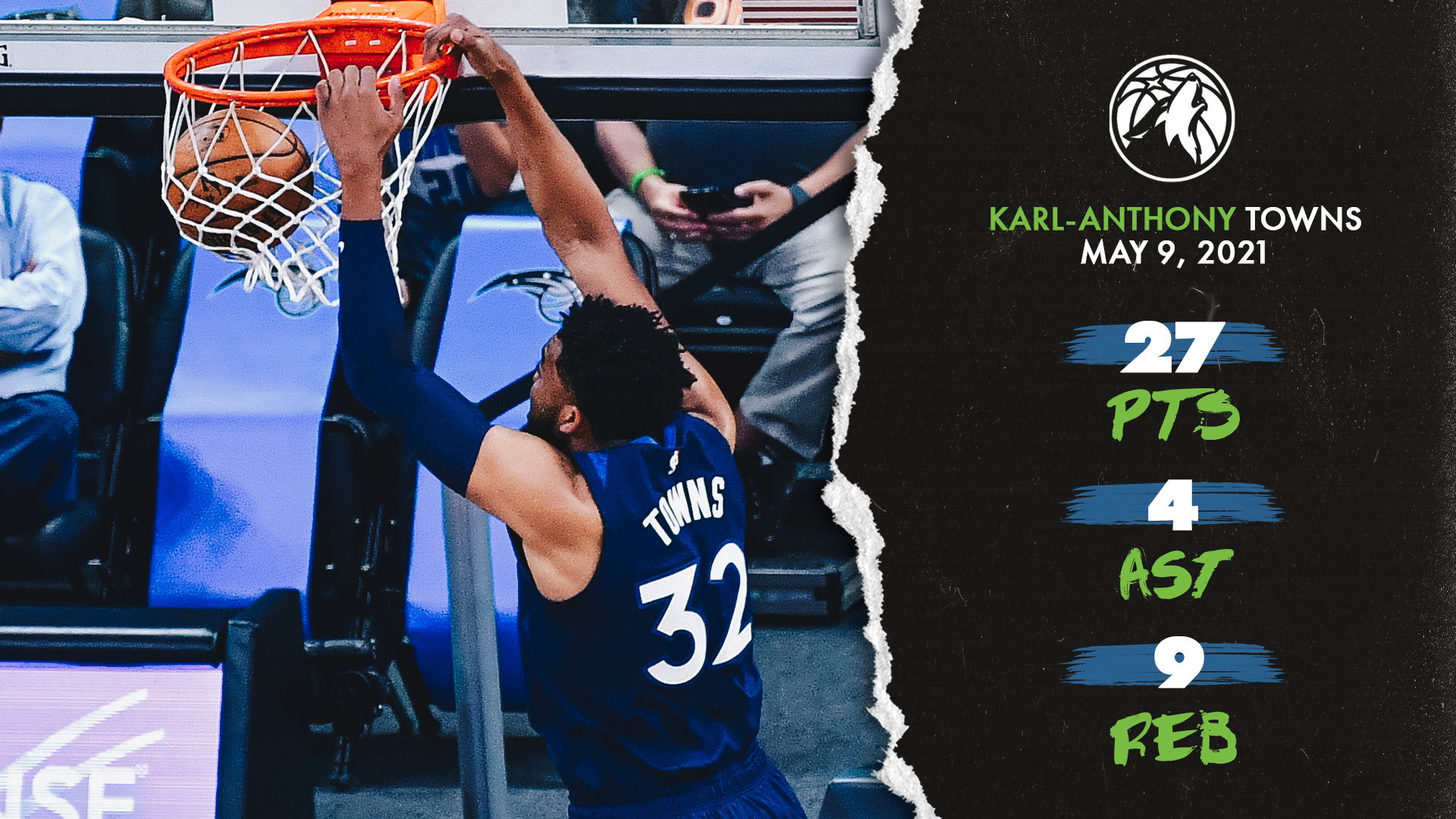 Highlights | Karl-Anthony Towns (27 pts., 9 reb., 4 ast.) vs. Magic - May 9, 2021