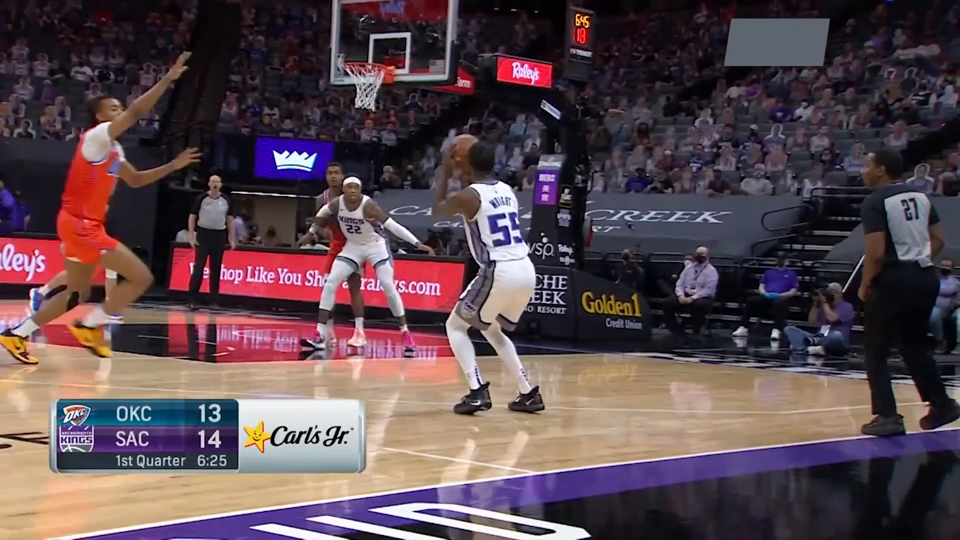Delon Wright Starts Off Hot with the Triple!