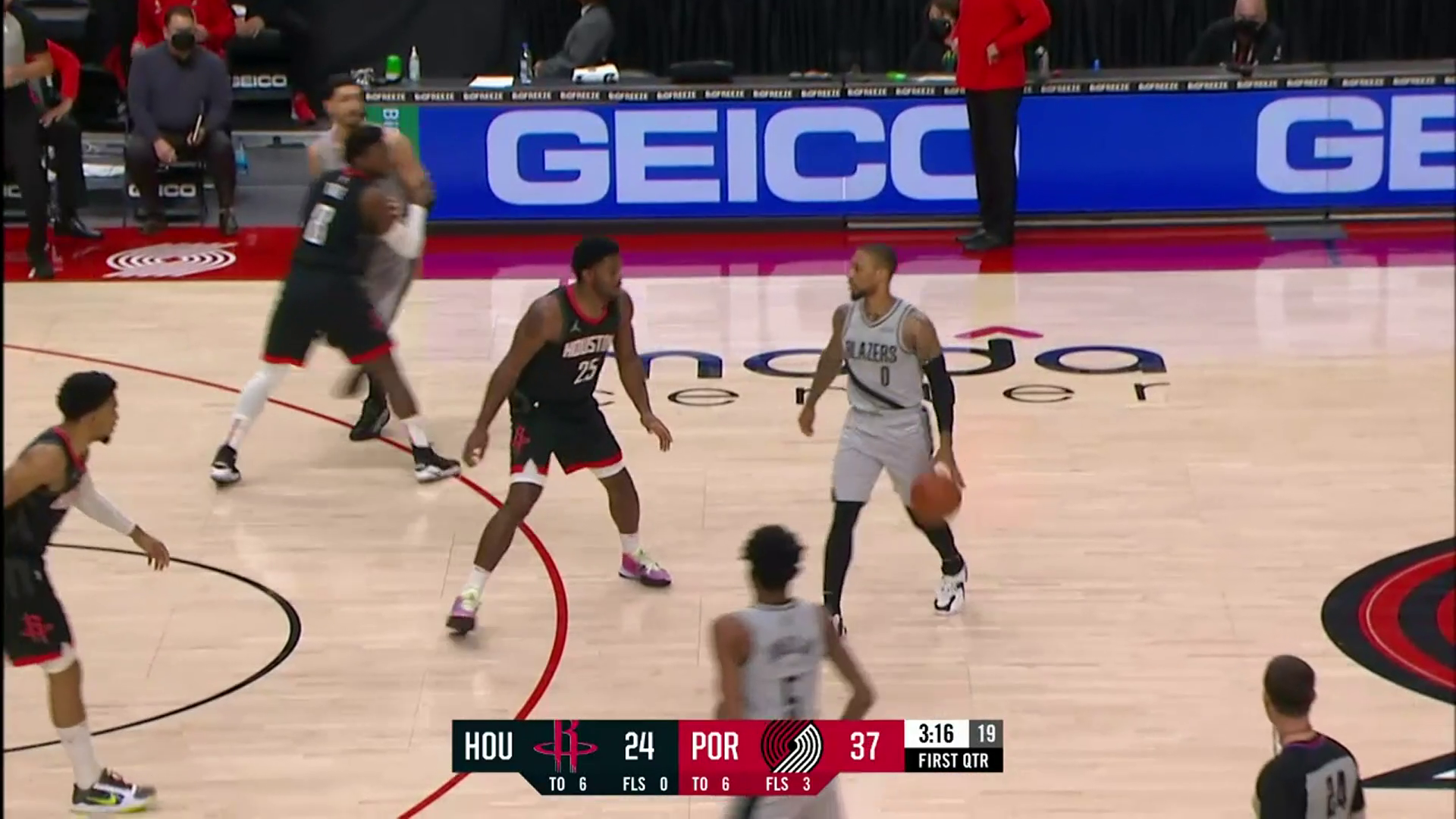 Trail Blazers tie NBA record with 12 threes in the first quarter vs. Houston