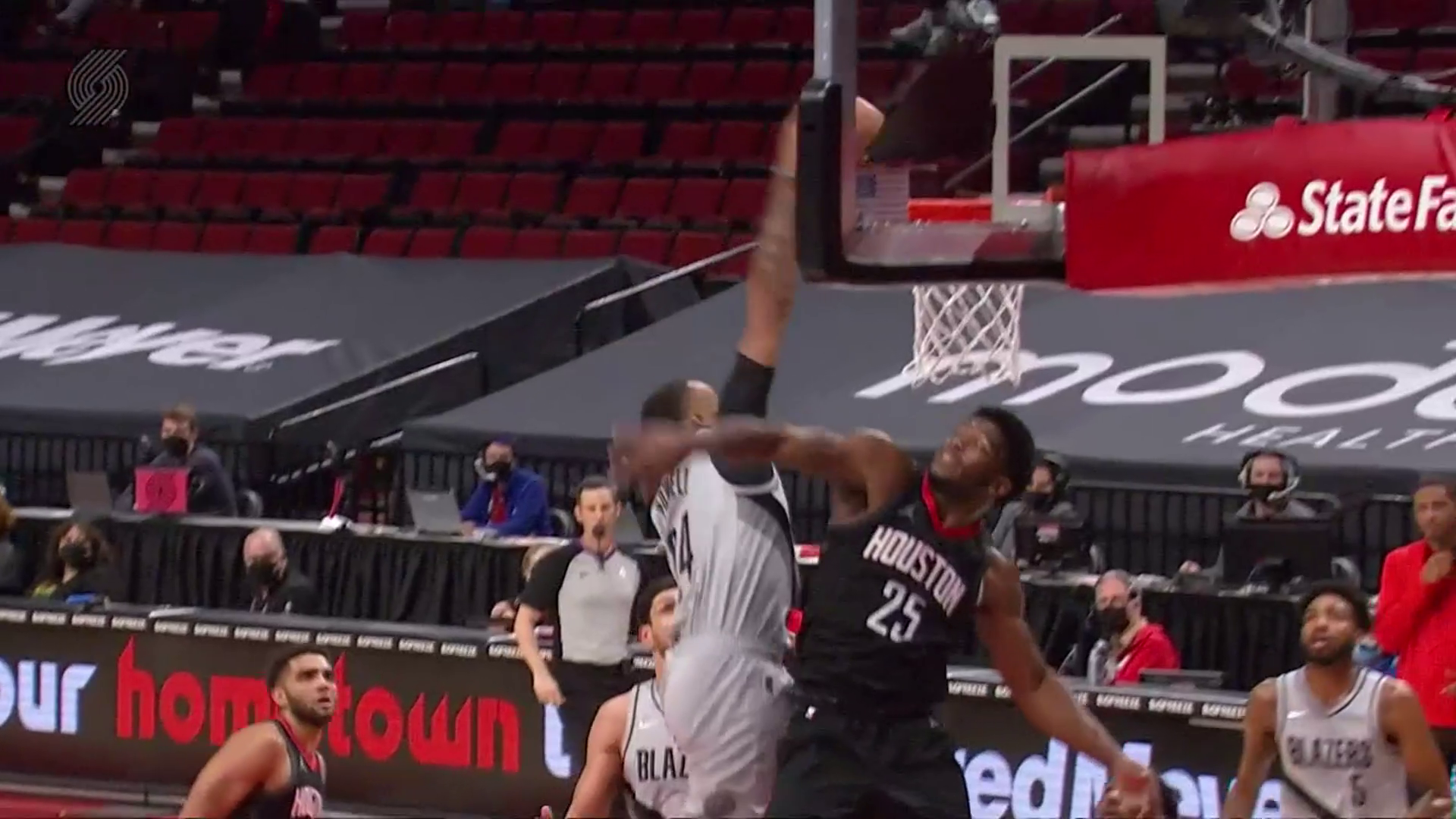 Norman Powell puts his defender on a poster