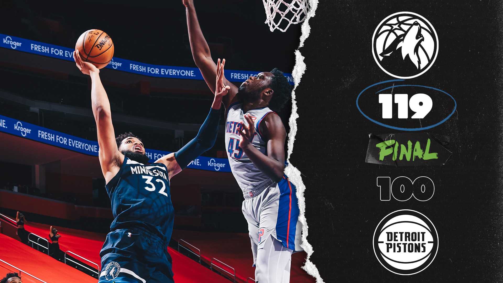 Highlights | Minnesota Timberwolves 119-100 Detroit Pistons - May 11, 2021