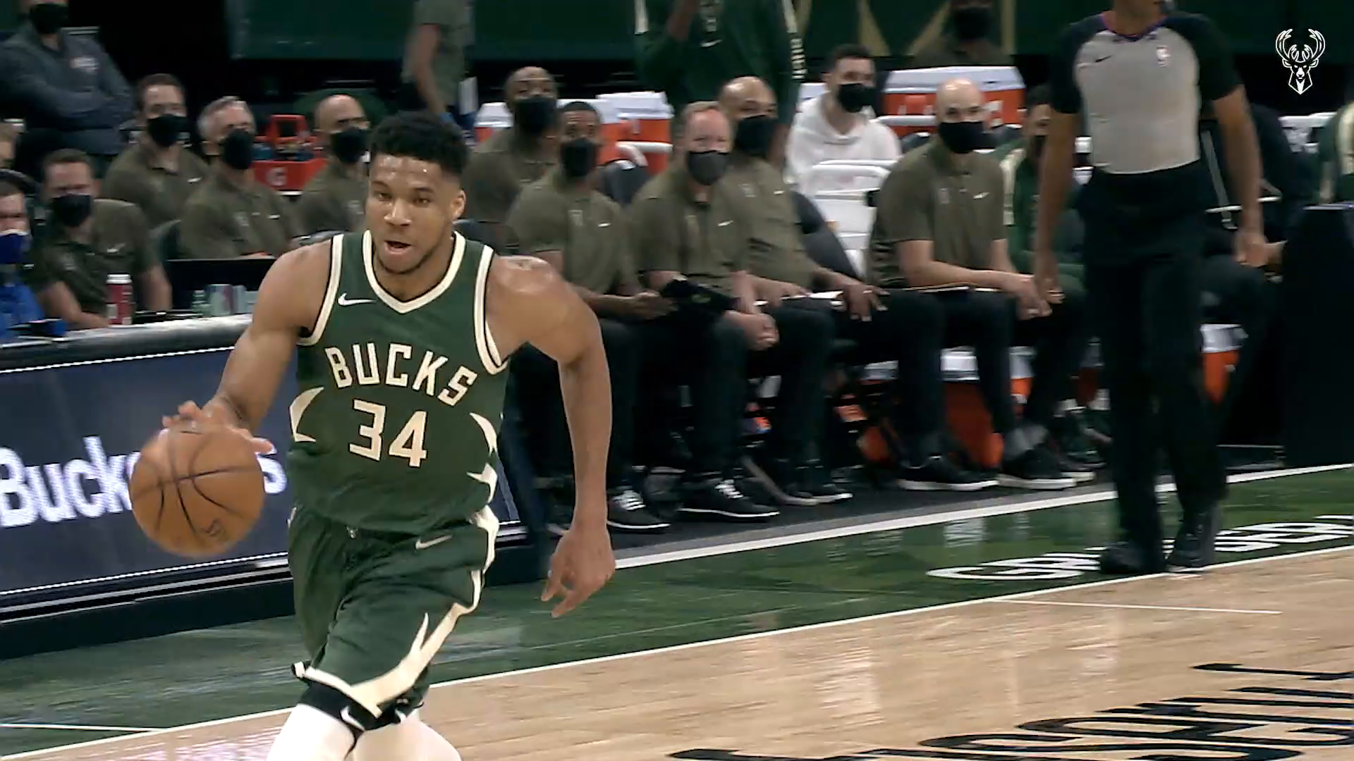 Fiserv Fastbreak: Giannis Steal and Slam