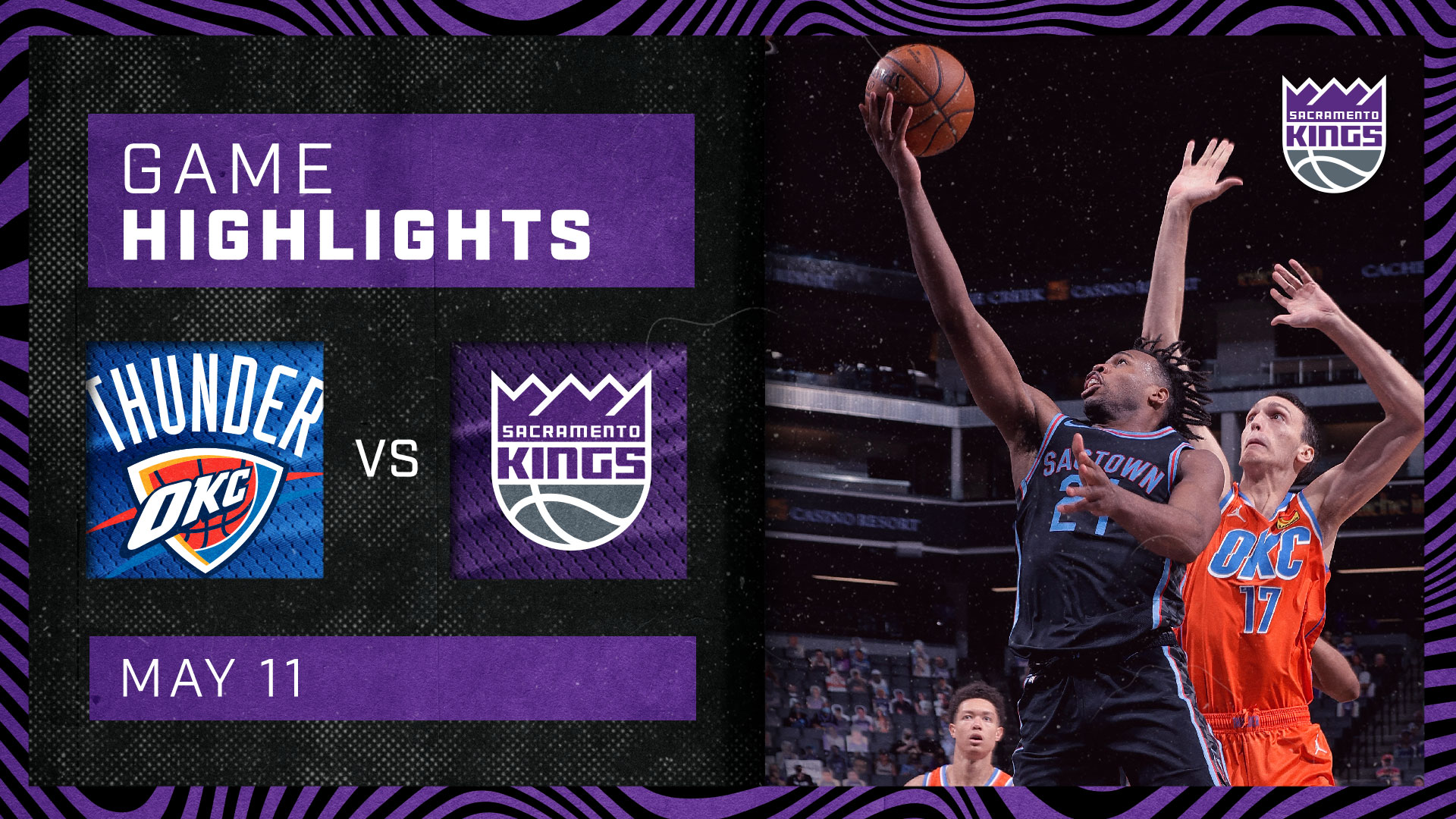 Kings Rout Thunder for the Season Sweep | Kings vs Thunder 5.11.21