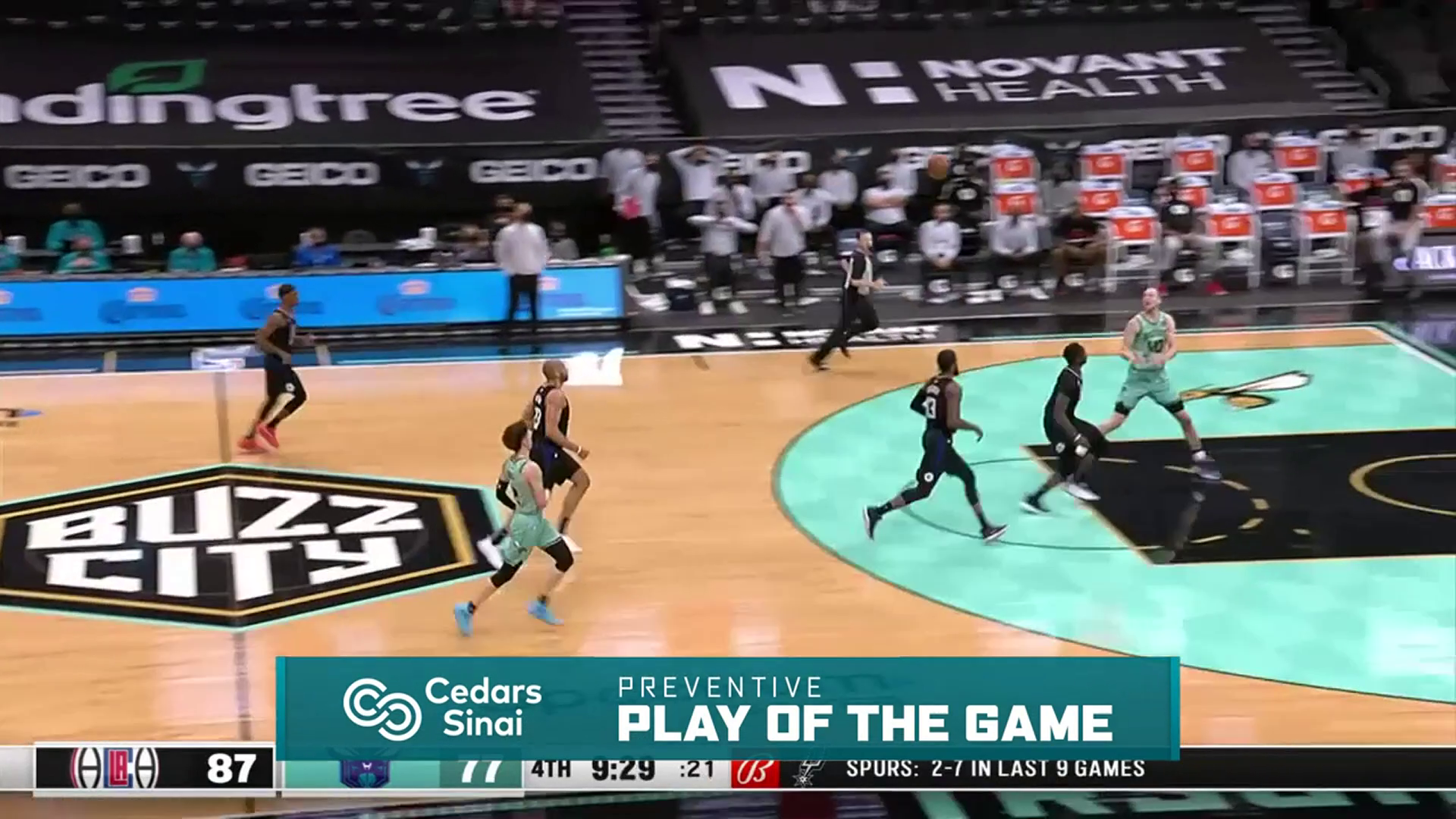 Cedars-Sinai Preventive Play of the Game | Clippers vs Hornets (5.13.21)