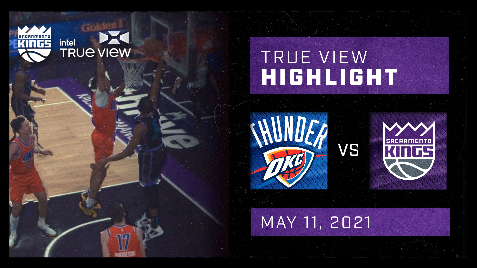 Intel True View Highlight - Harkless Driving Dunk vs Thunder 5.11.21