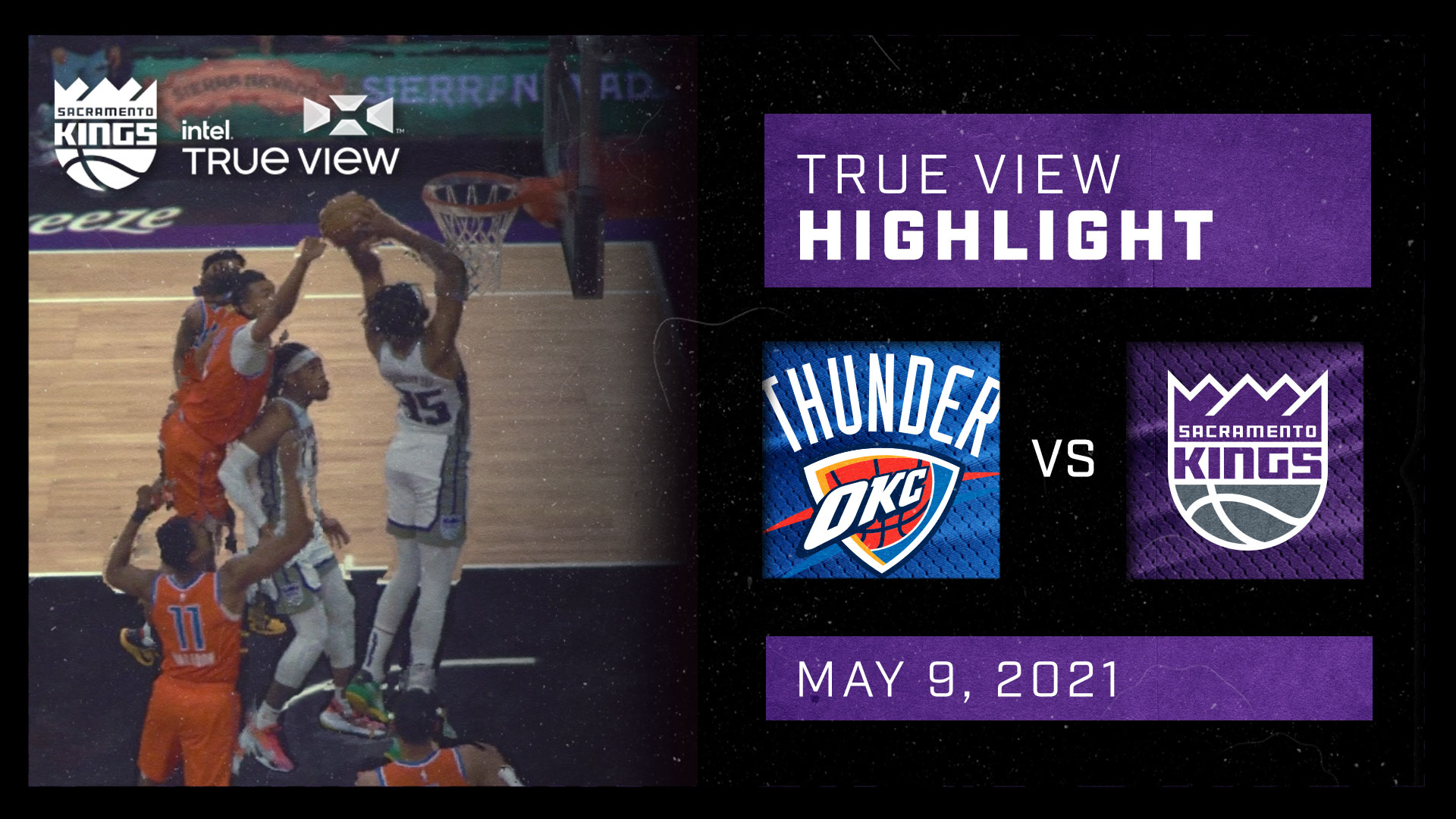 Intel True View Highlight - Bagley Putback Dunk vs Thunder 5.9.21