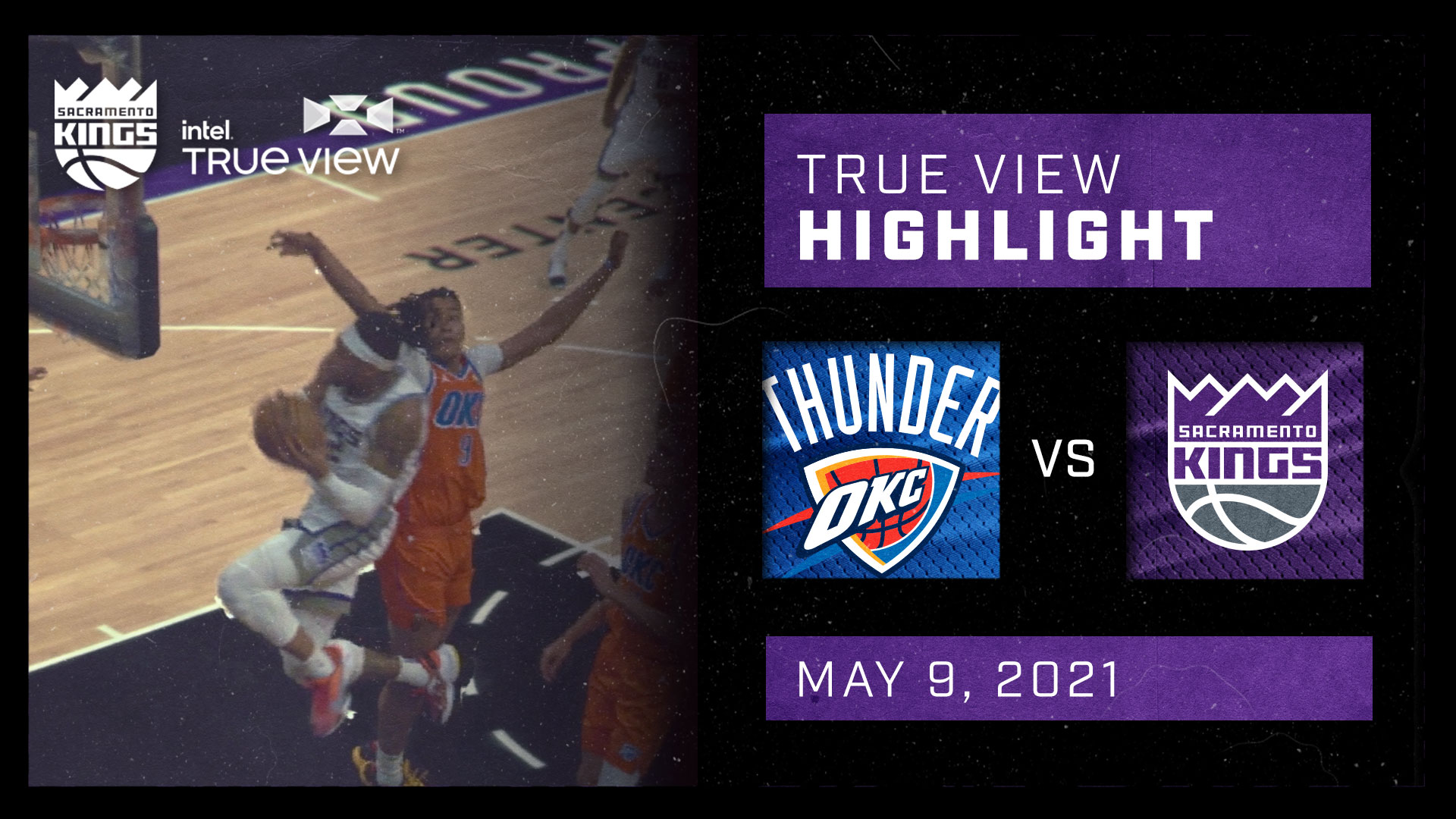 Intel True View Highlight - Holmes Dunk vs Thunder 5.9.21