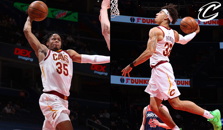 Cavs Late-Game Dunk Show