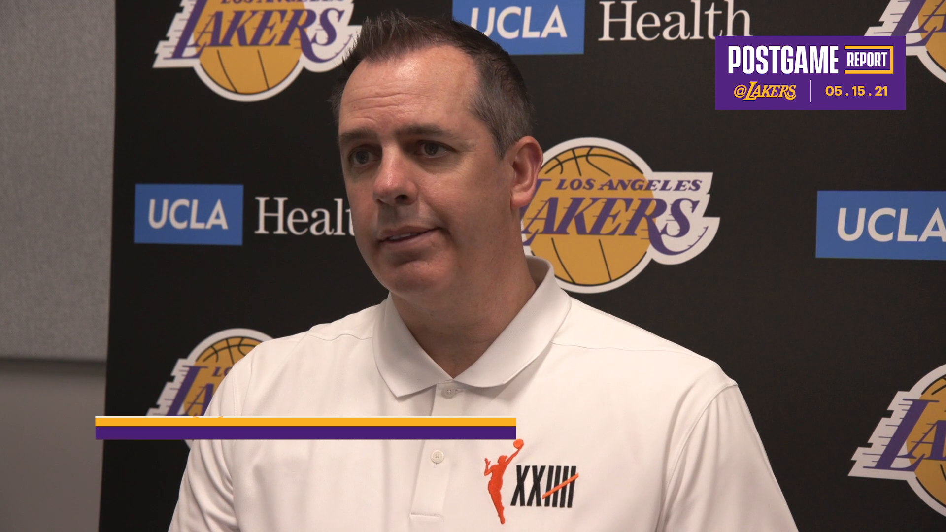 Lakers Postgame: Frank Vogel (5/15/21)