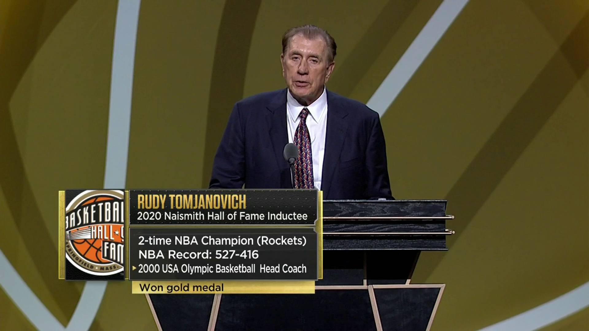 Rudy Tomjanovich Hall of Fame Speech