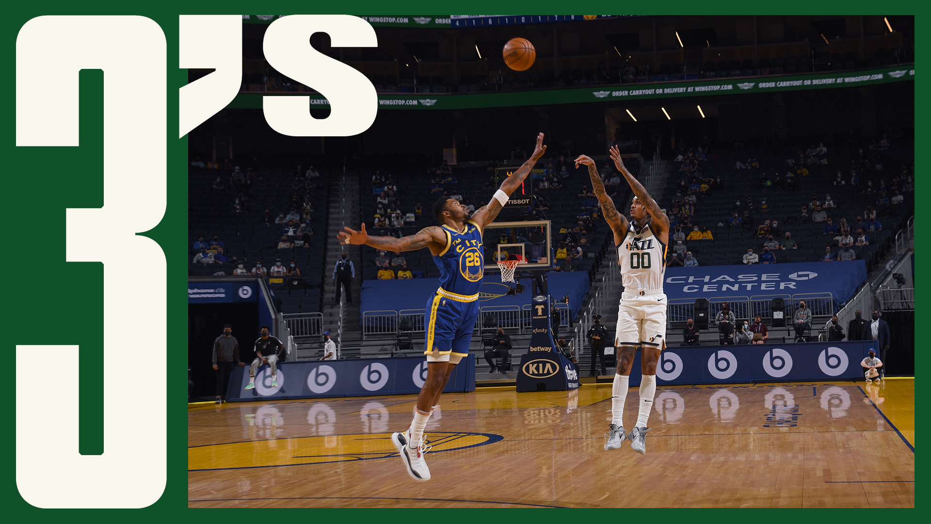 JC with the crossover!   #ThreesOfTheWeek