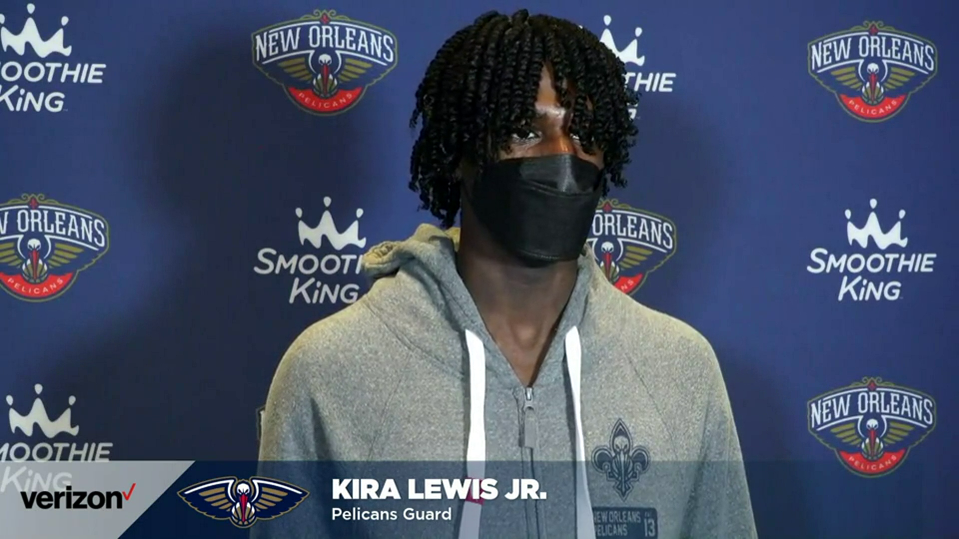 Pelicans-Lakers Postgame Interview: Kira Lewis Jr. 5-16-21
