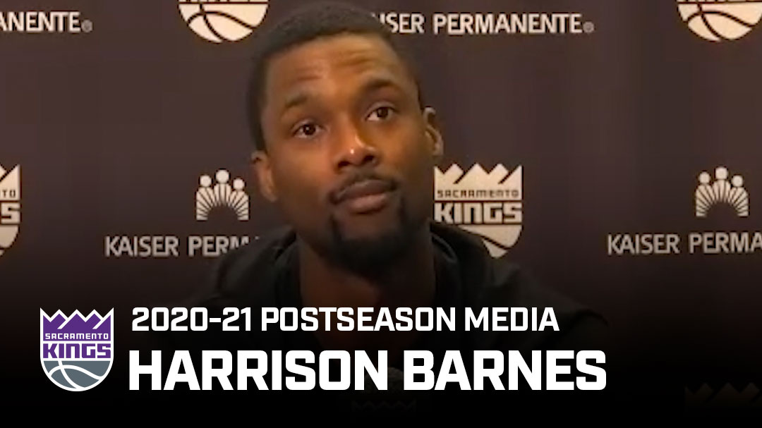 Harrison Barnes 'Excited' About the Future | Postseason Media 2020-21