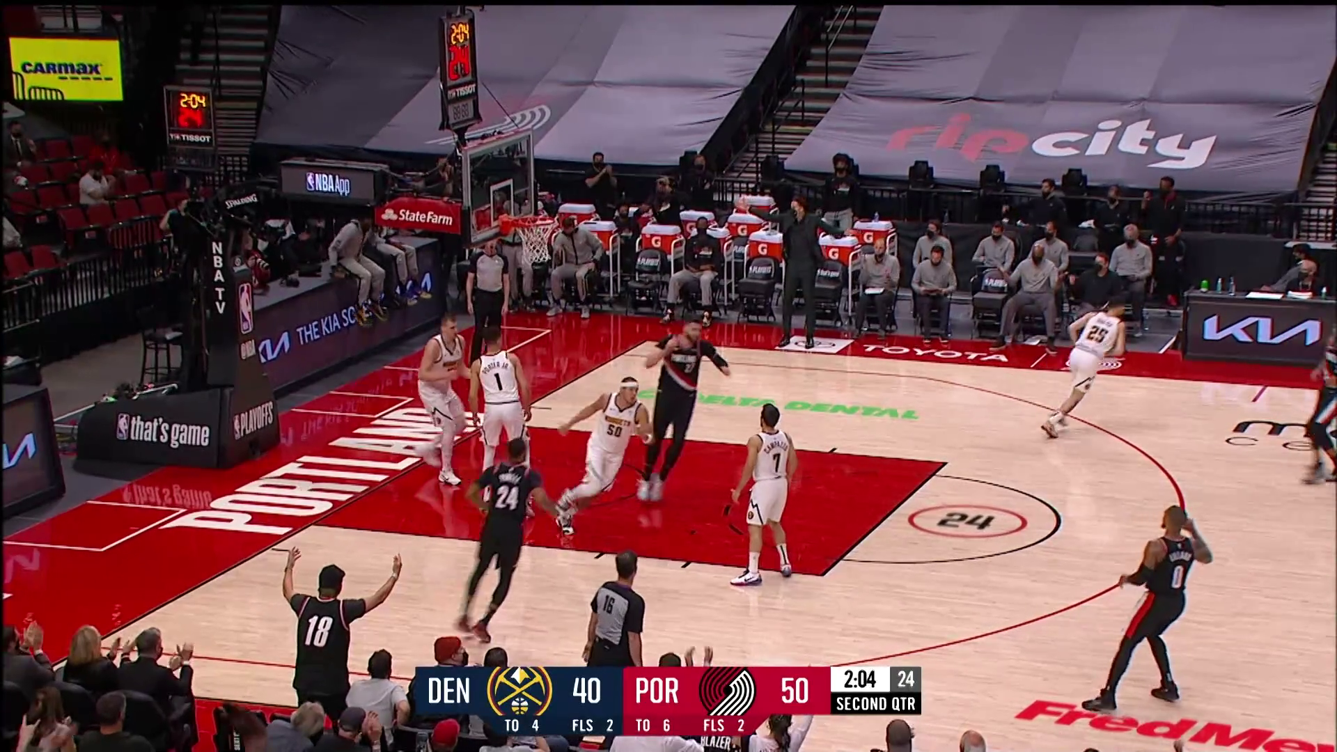 Trail Blazers 115, Nuggets 95 | McDonalds Game 4 Highlights