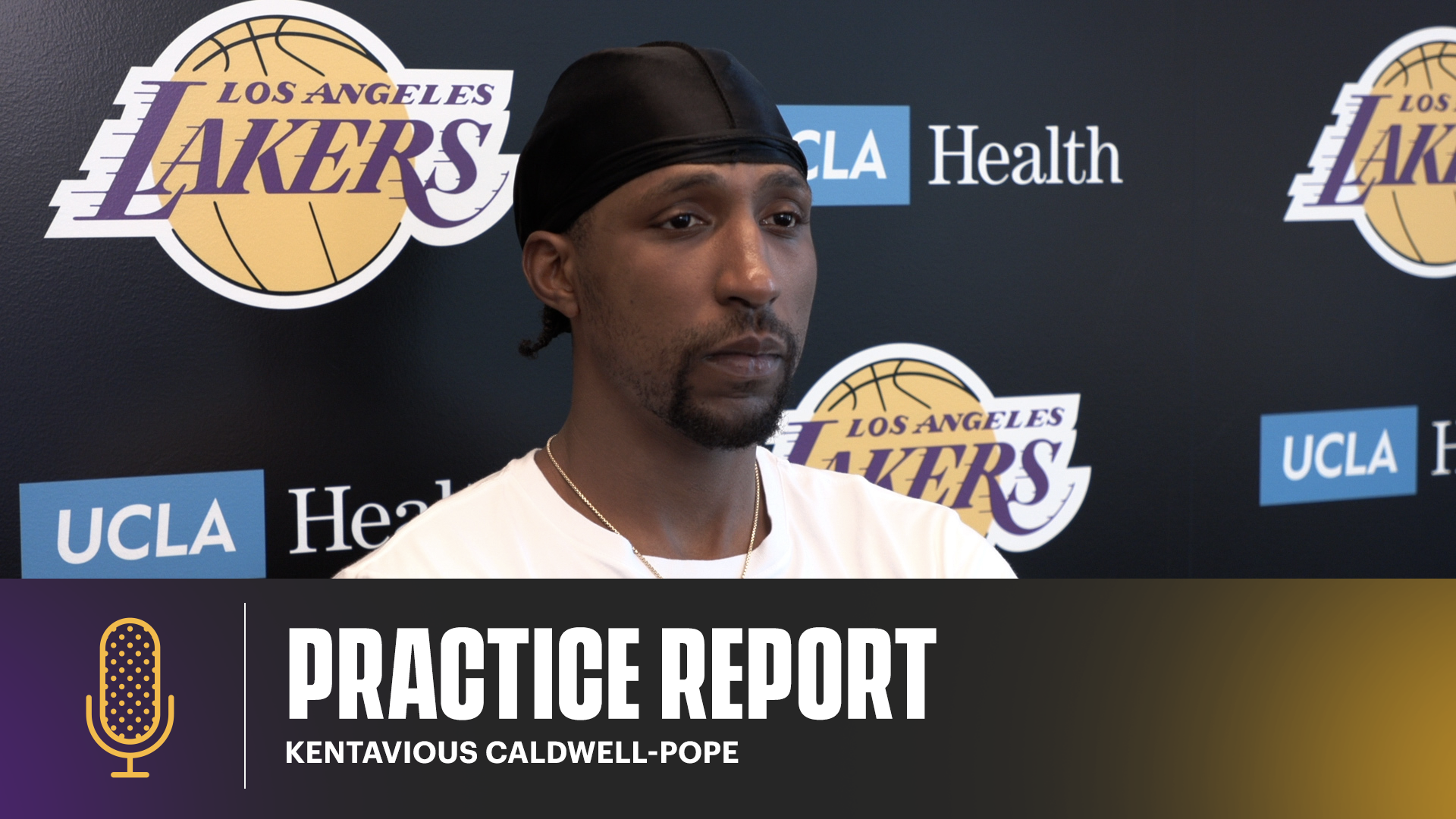 KCP gives an update on his health, and chances to playin game 5   Lakers Practice